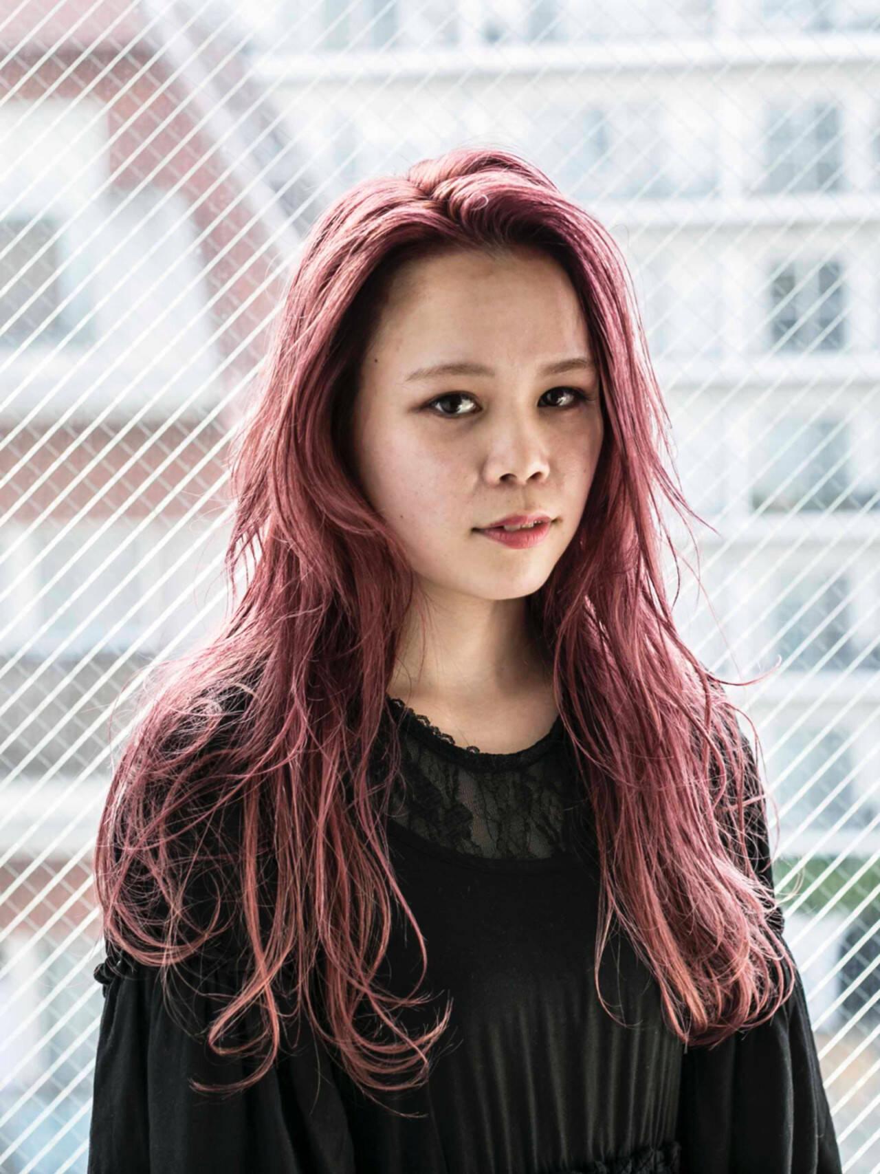 ガーリー ラベンダーピンク ピンク ピンクアッシュヘアスタイルや髪型の写真・画像