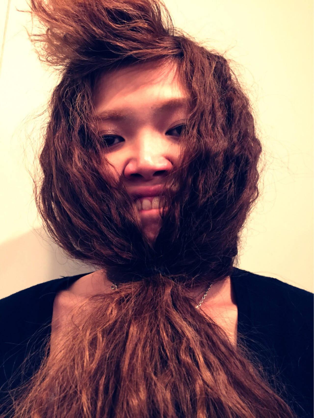 モード ヘアアレンジ ロングヘアスタイルや髪型の写真・画像