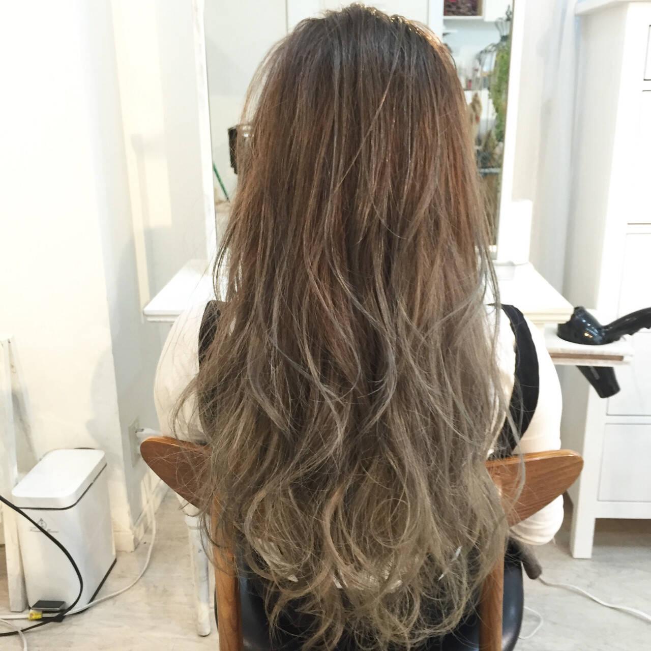 モテ髪 グラデーションカラー 外国人風 ロングヘアスタイルや髪型の写真・画像
