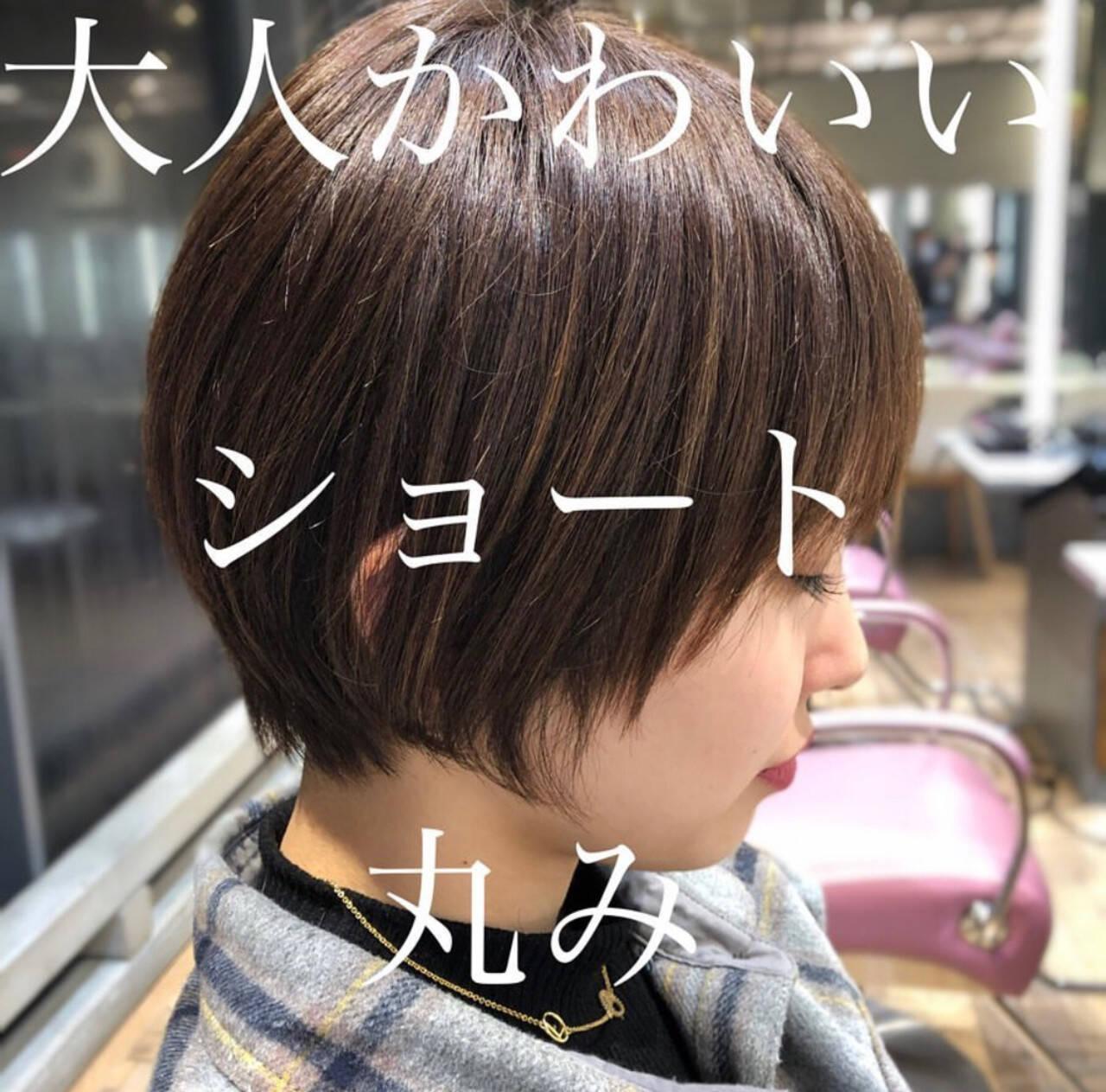 ナチュラル ショートヘア ショートボブ 大人かわいいヘアスタイルや髪型の写真・画像