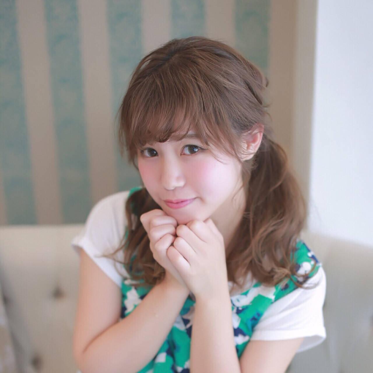 ロング ガーリー 簡単ヘアアレンジ ヘアアレンジヘアスタイルや髪型の写真・画像