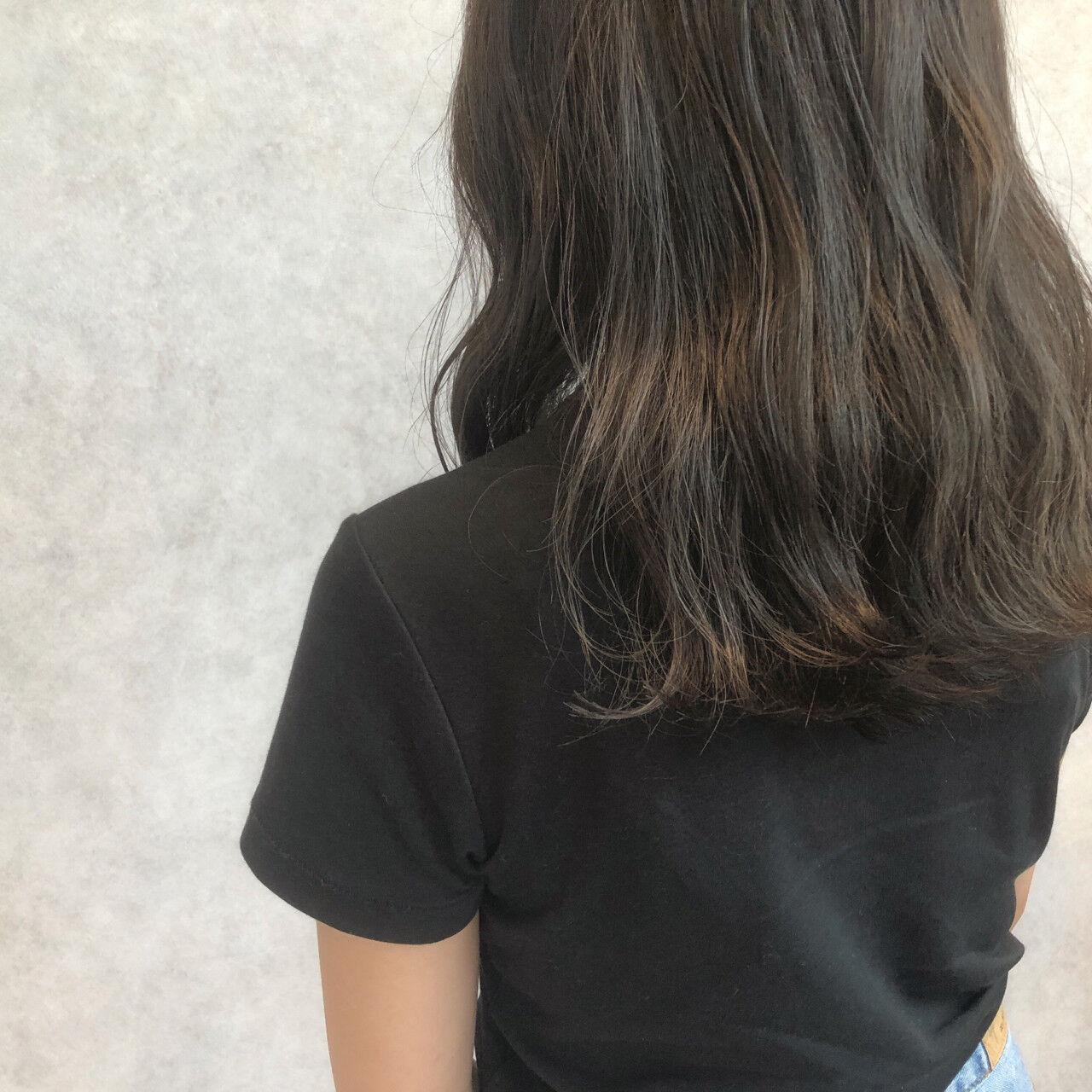 抜け感 ミディアム 前髪あり 色気ヘアスタイルや髪型の写真・画像