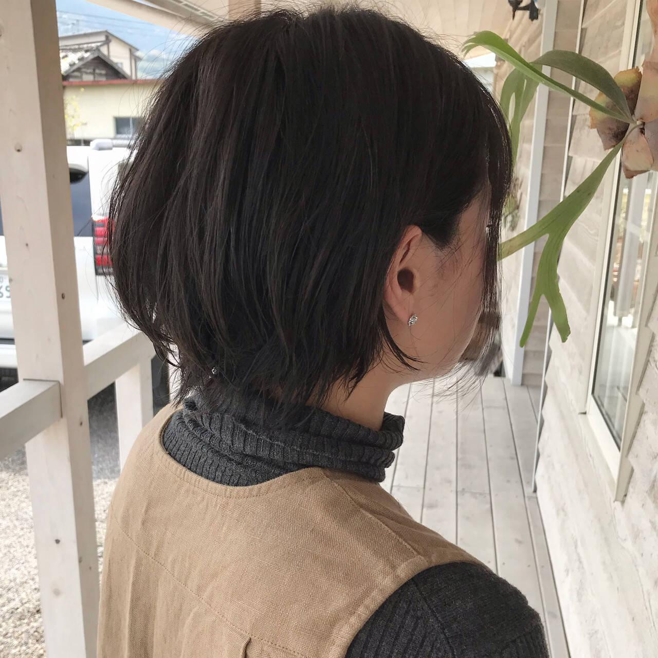 ショート ショートボブ 黒髪ショート ショートヘアヘアスタイルや髪型の写真・画像