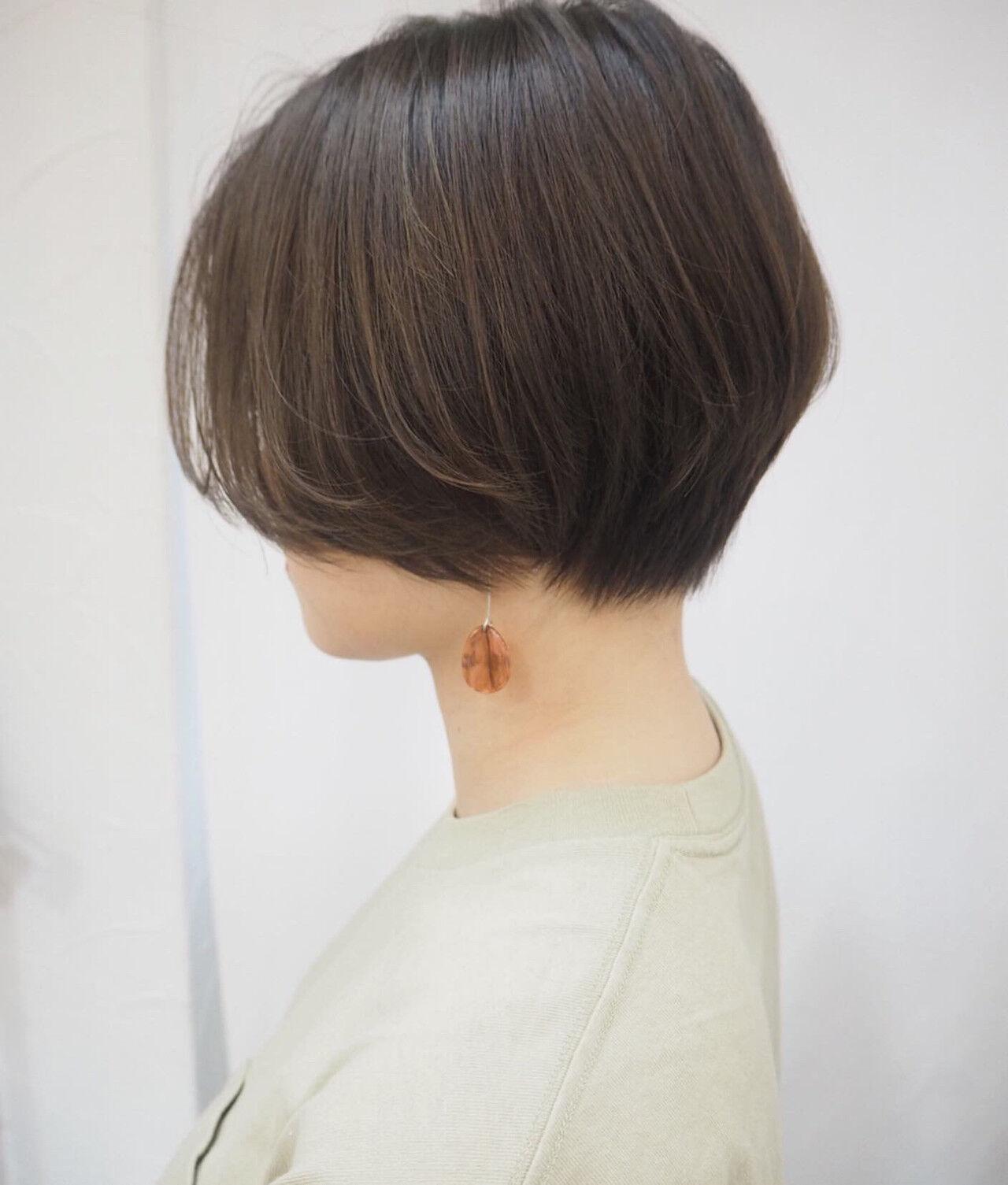 ハンサムショート デート 大人ショート ショートヘアスタイルや髪型の写真・画像