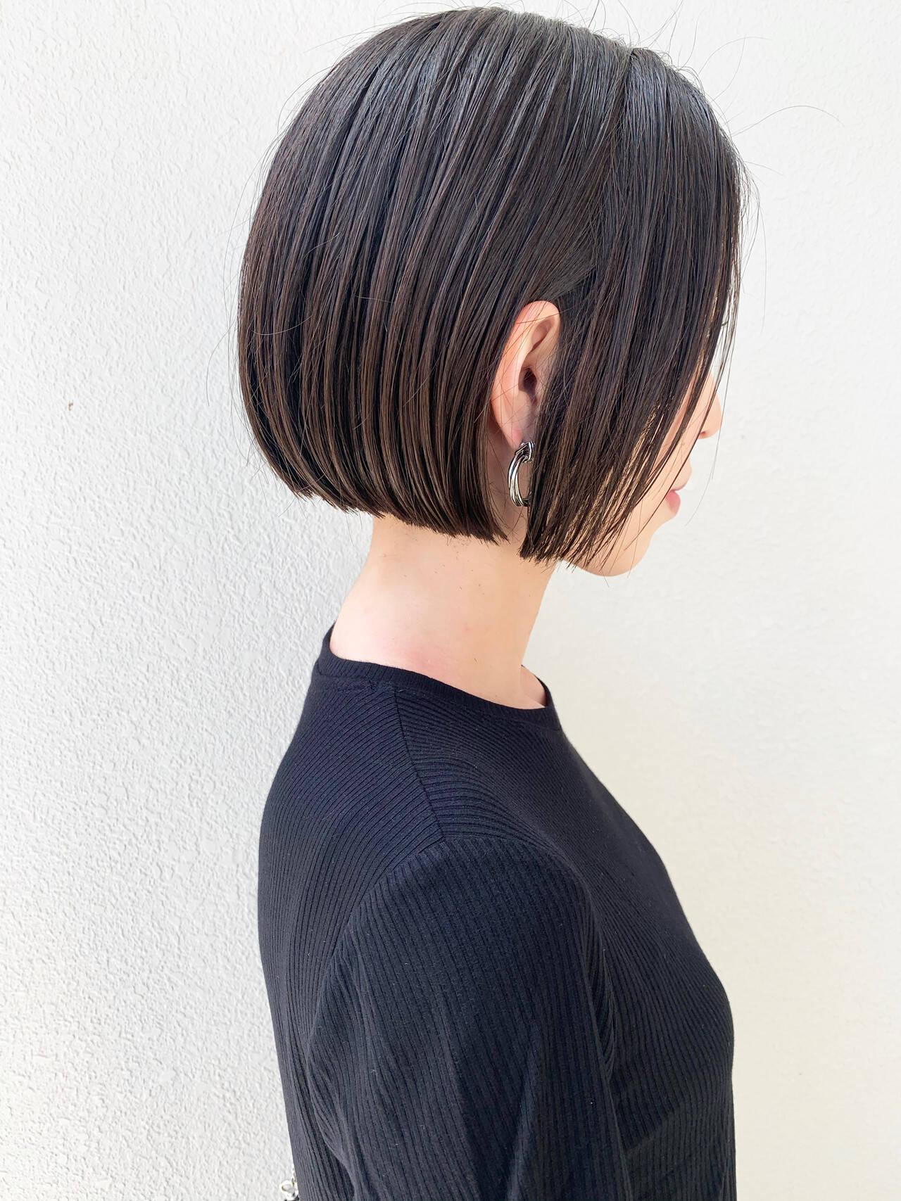 ショートボブ ナチュラル ショートヘア ボブヘアスタイルや髪型の写真・画像
