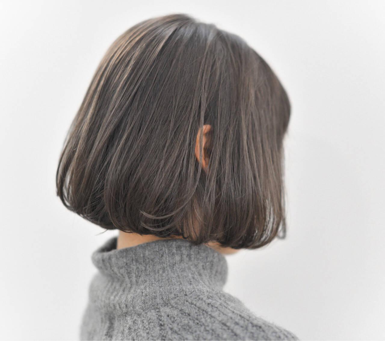 ボブ アッシュ 冬 外国人風ヘアスタイルや髪型の写真・画像
