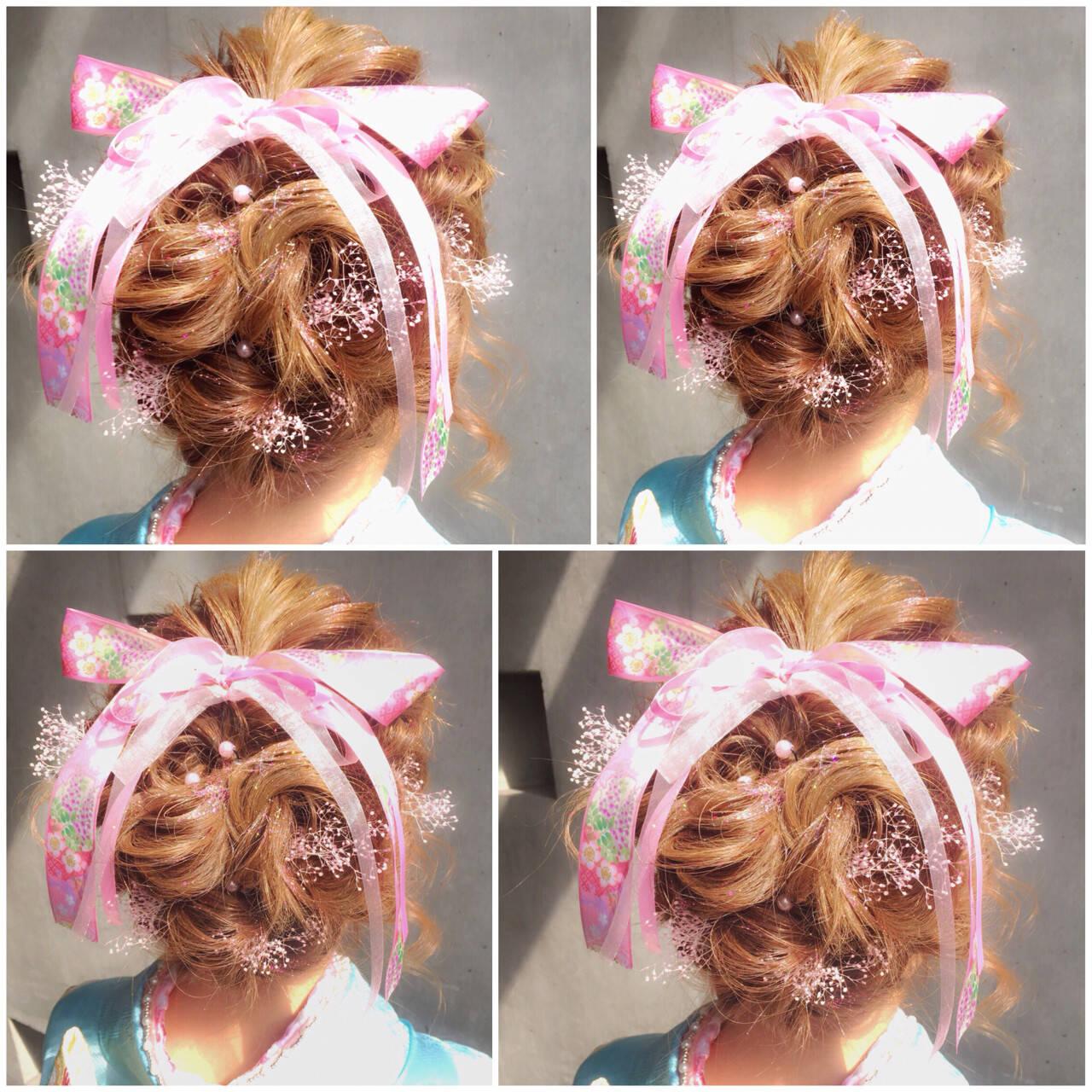 ハーフアップ ショート 簡単ヘアアレンジ ミディアムヘアスタイルや髪型の写真・画像