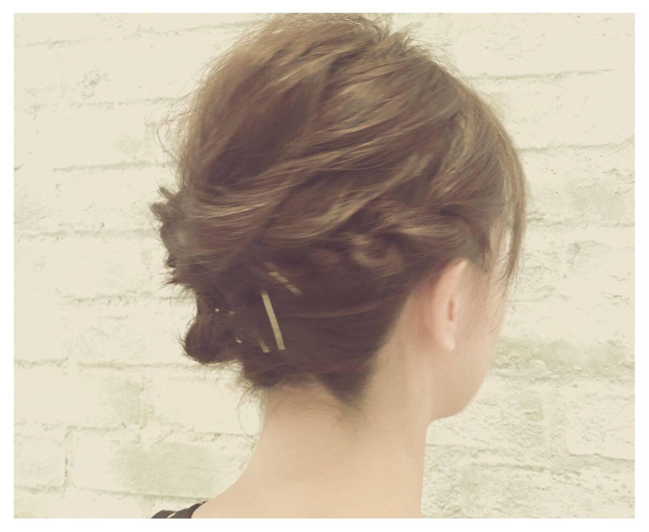結婚式 簡単ヘアアレンジ ヘアアレンジ 大人かわいいヘアスタイルや髪型の写真・画像