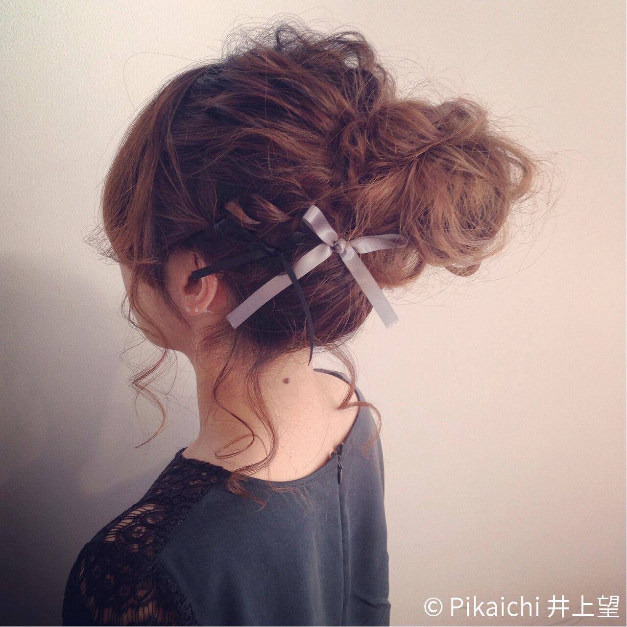 ヘアアレンジ お団子 ラフ 結婚式ヘアスタイルや髪型の写真・画像
