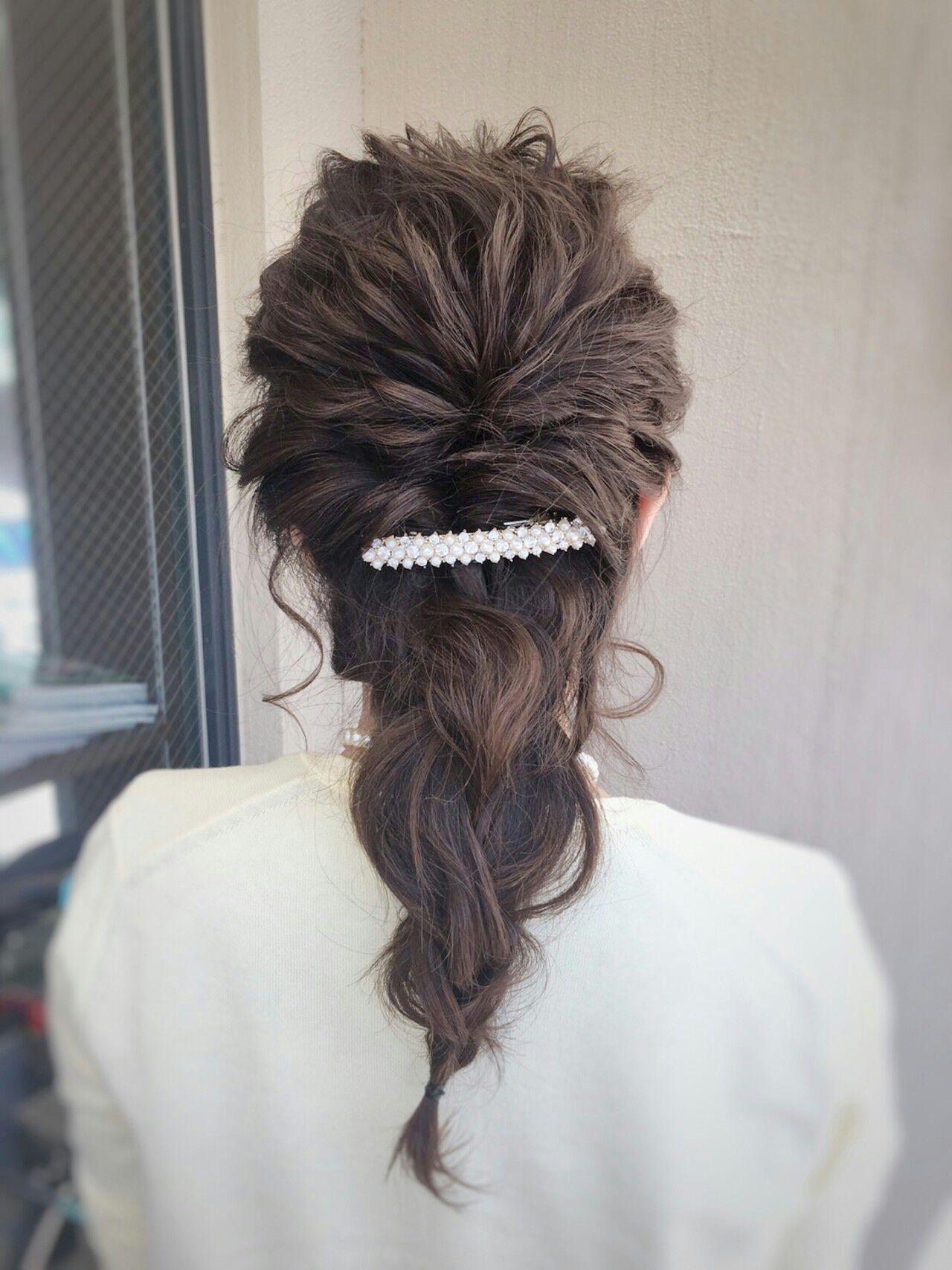 ショート 上品 結婚式 簡単ヘアアレンジヘアスタイルや髪型の写真・画像