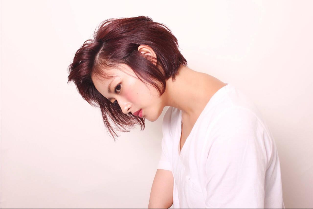 モード ボブ 色気 秋ヘアスタイルや髪型の写真・画像