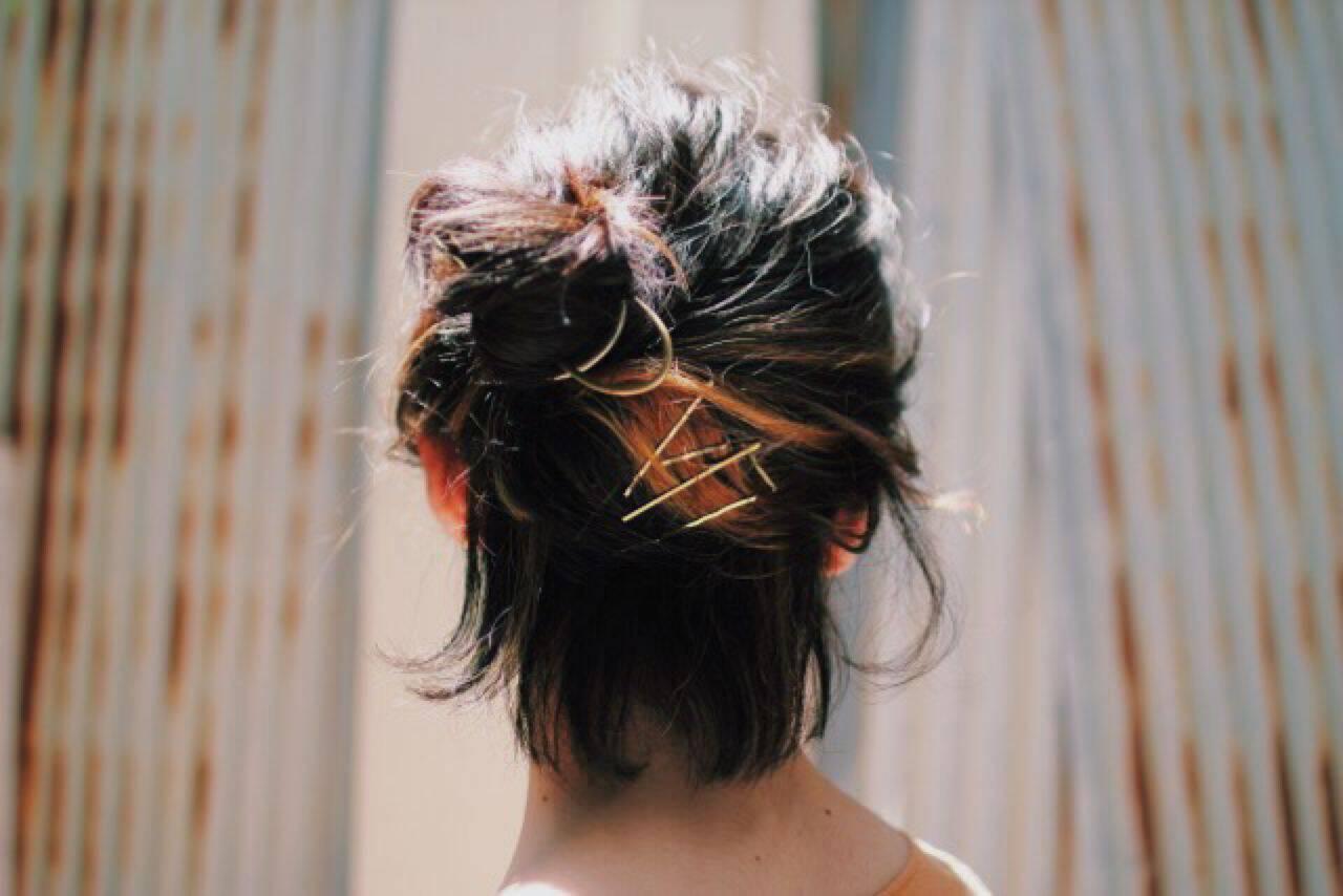春 ストリートヘアスタイルや髪型の写真・画像
