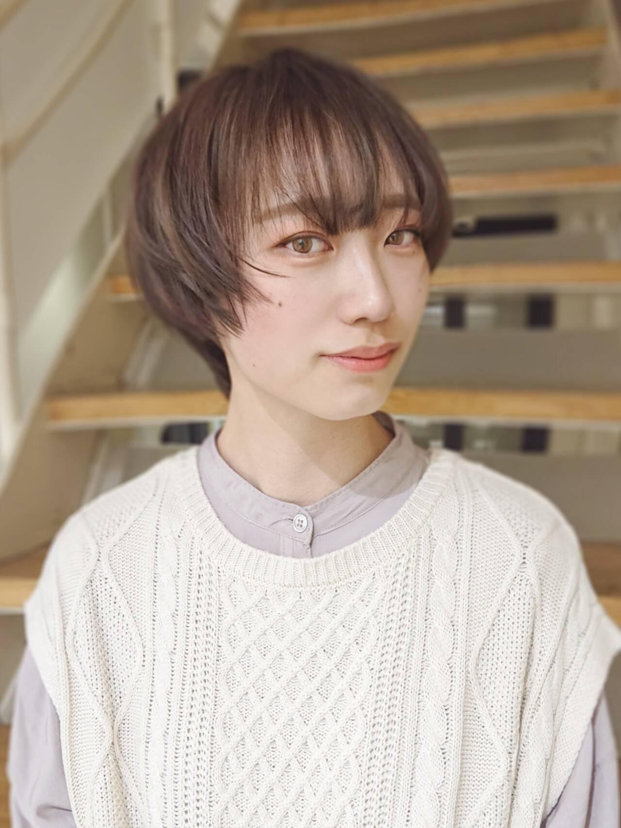 インナーカラー ショートボブ ベリーショート ショートヘアスタイルや髪型の写真・画像