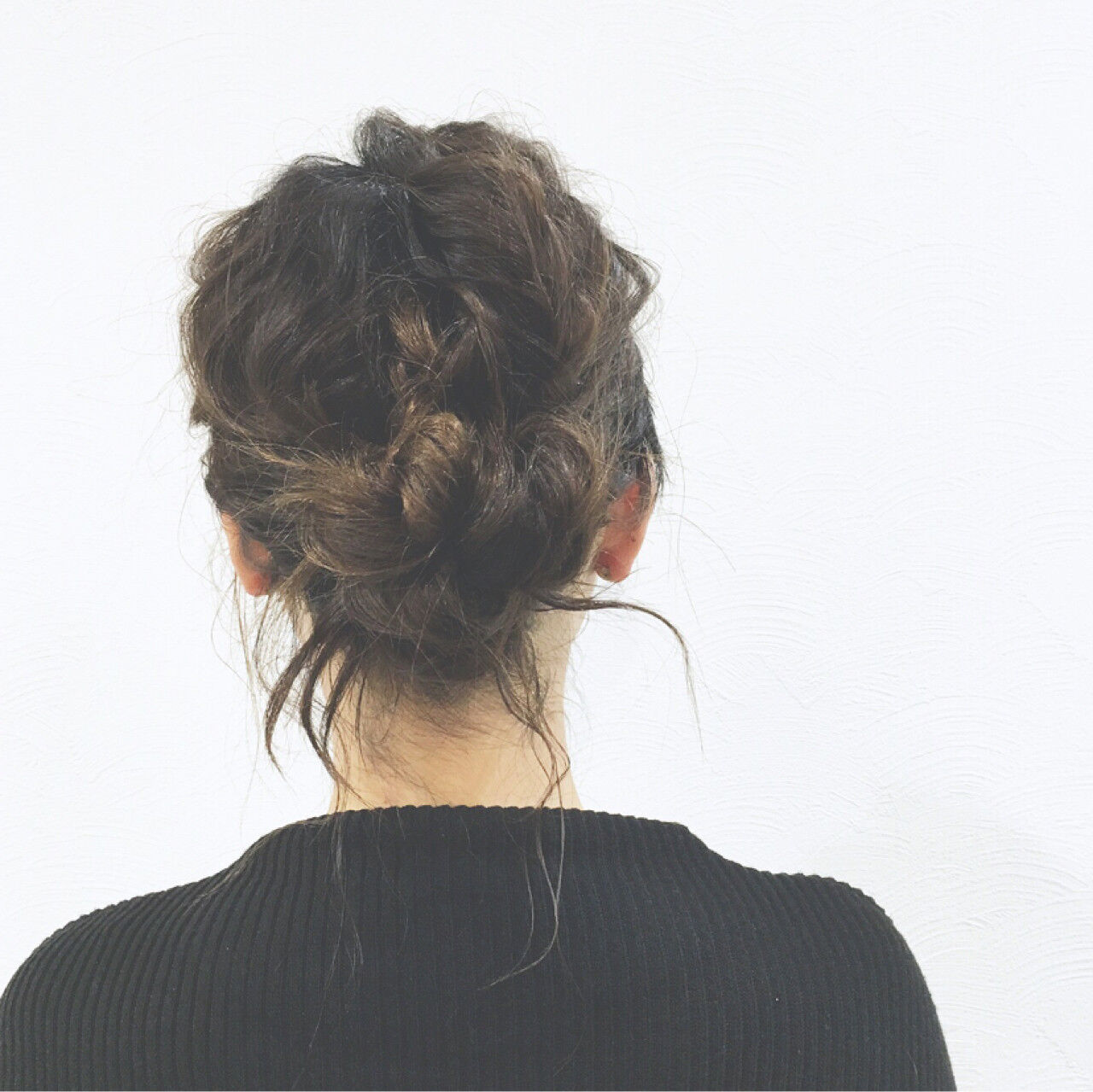 ショート ロープ編み 簡単ヘアアレンジ ヘアアレンジヘアスタイルや髪型の写真・画像
