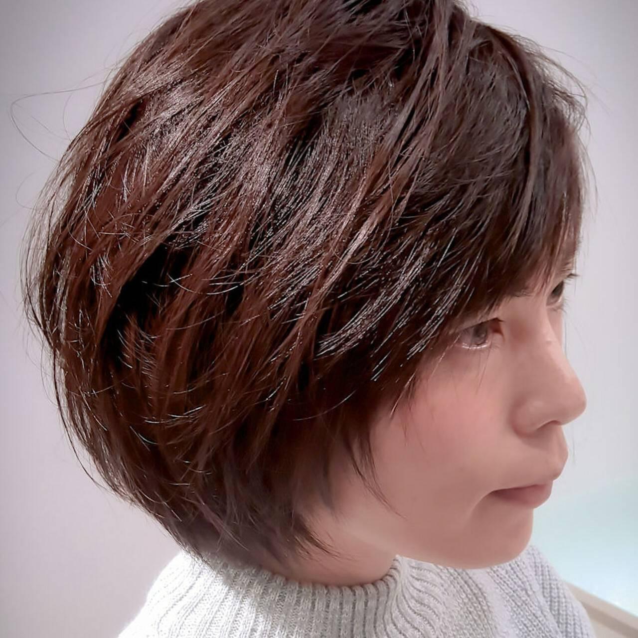 ショート モード ショートボブ ショートヘアヘアスタイルや髪型の写真・画像