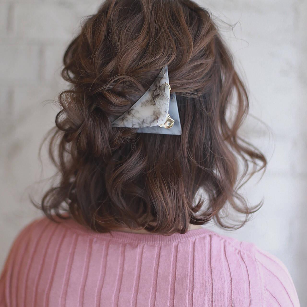 簡単ヘアアレンジ ショート ヘアアレンジ 大人女子ヘアスタイルや髪型の写真・画像