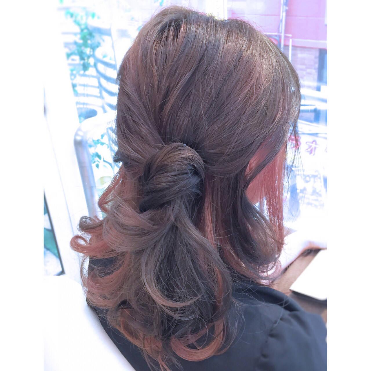 インナーカラー ストリート ショート ヘアアレンジヘアスタイルや髪型の写真・画像