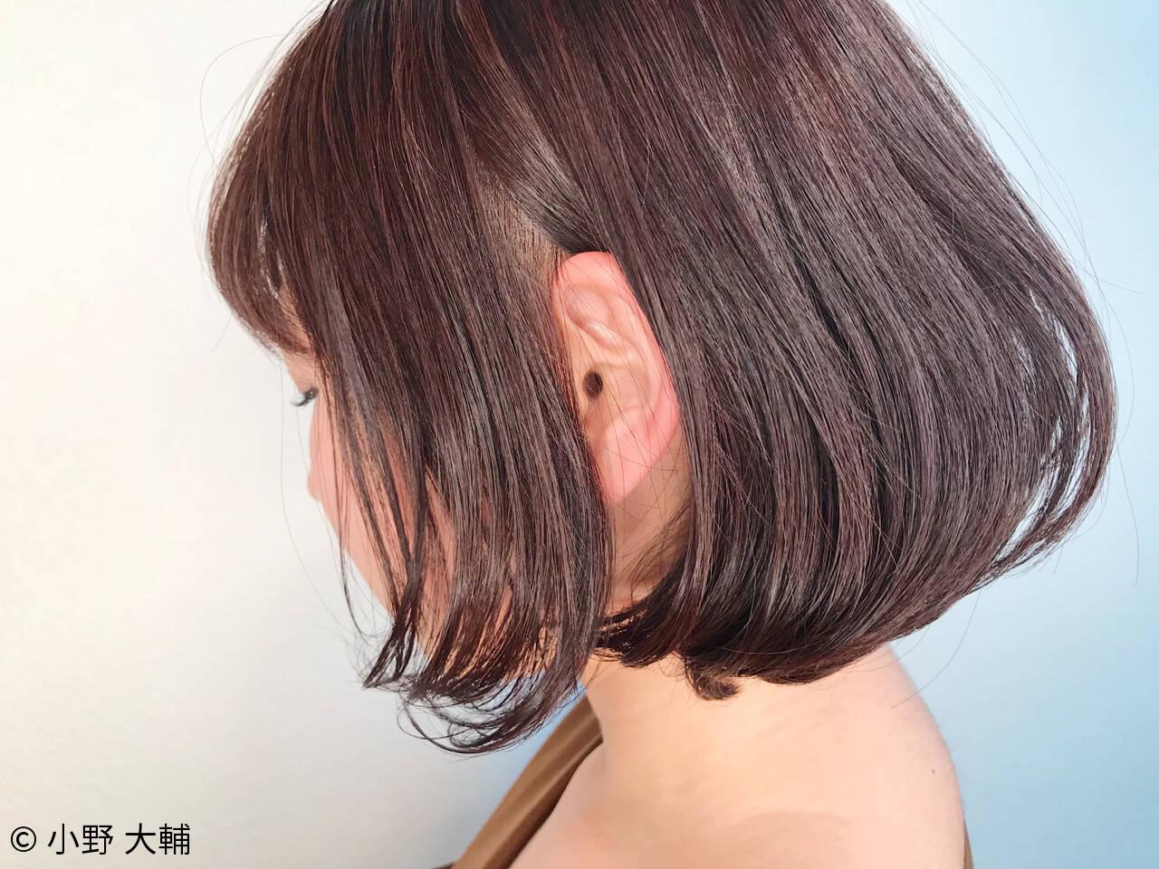 バレンタイン ボブ ナチュラル ラベンダーアッシュヘアスタイルや髪型の写真・画像