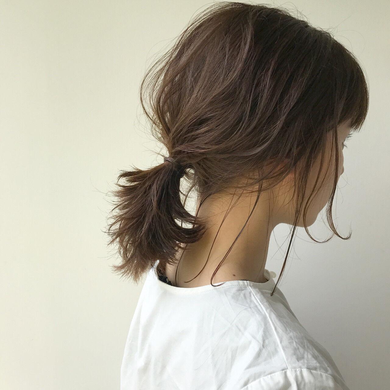 女子会 デート ナチュラル アンニュイヘアスタイルや髪型の写真・画像