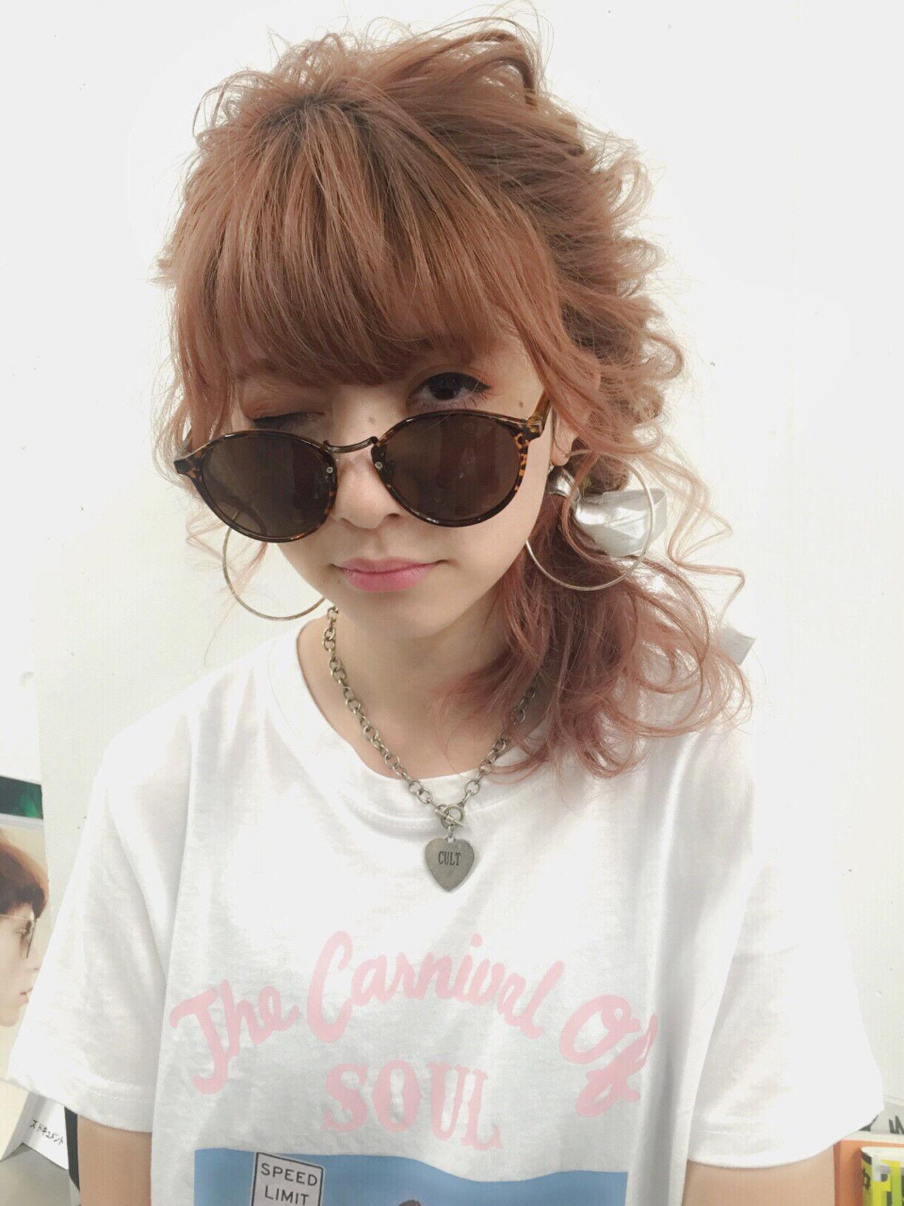 ハーフアップ ピュア ショート ミディアムヘアスタイルや髪型の写真・画像