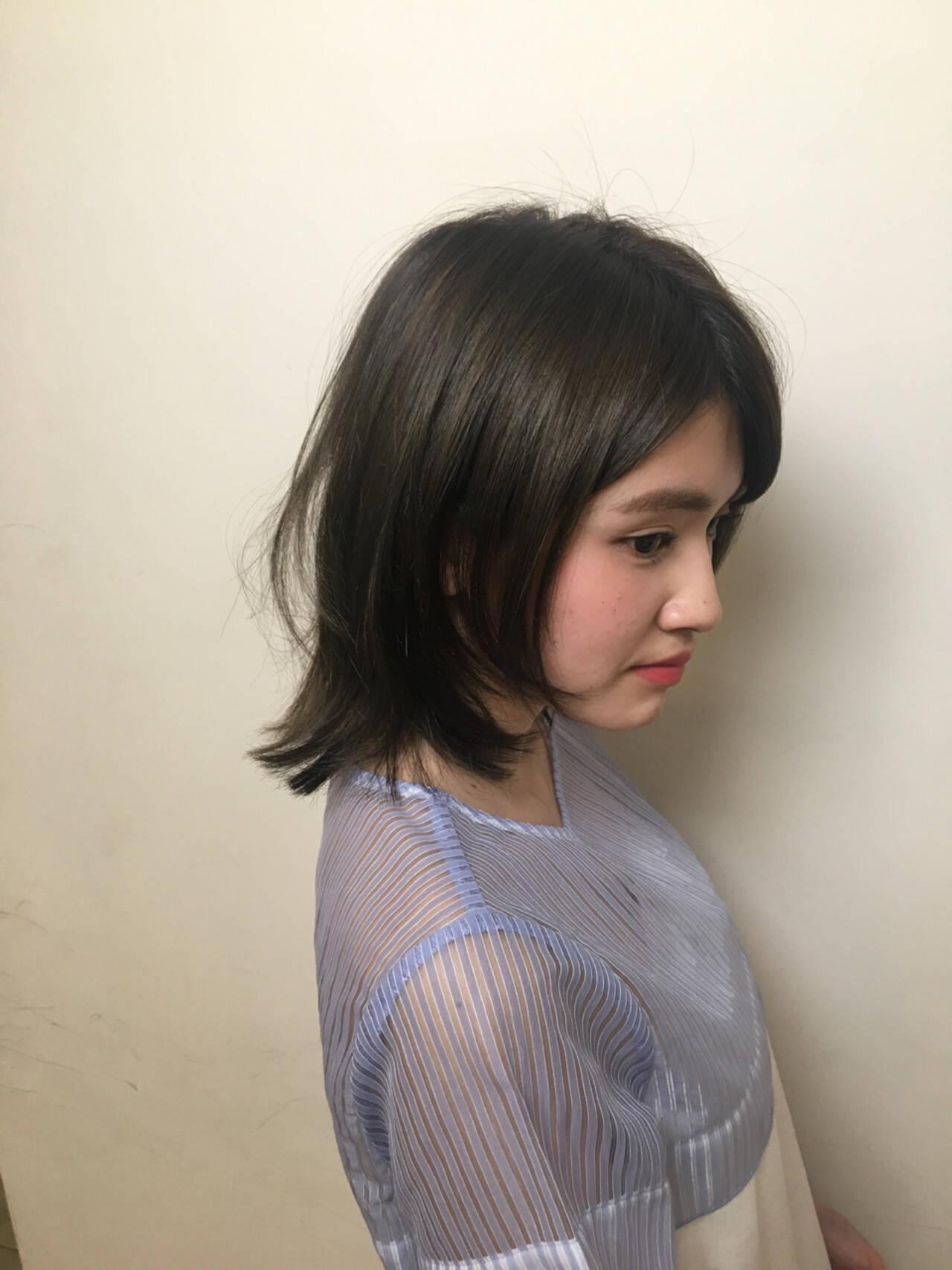 小顔 ショート 大人かわいい ナチュラルヘアスタイルや髪型の写真・画像