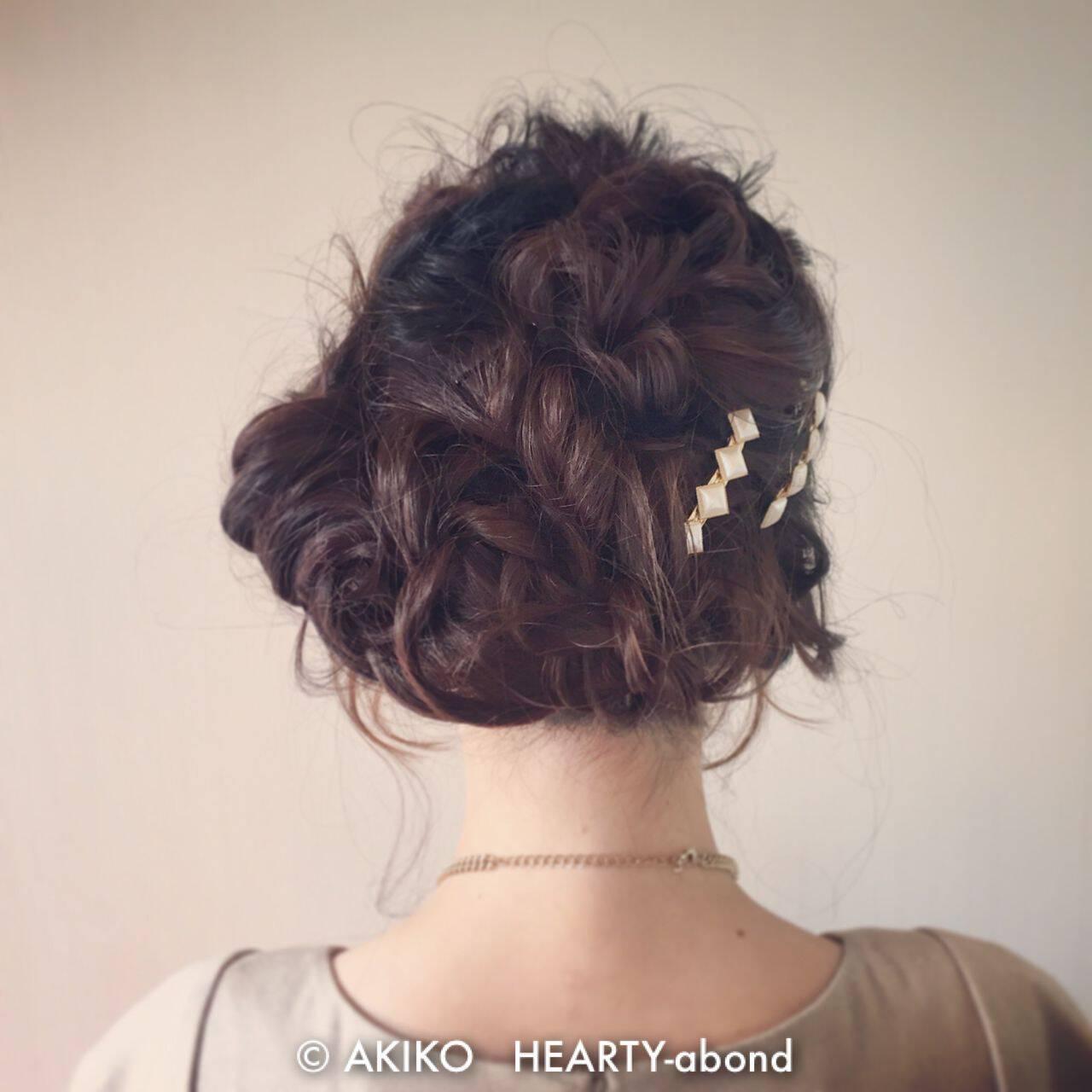 大人かわいい パーティ ヘアアレンジ ゆるふわヘアスタイルや髪型の写真・画像