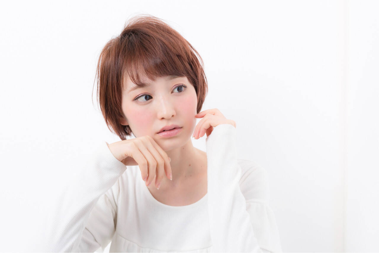 小顔 愛され ナチュラル ショートヘアスタイルや髪型の写真・画像
