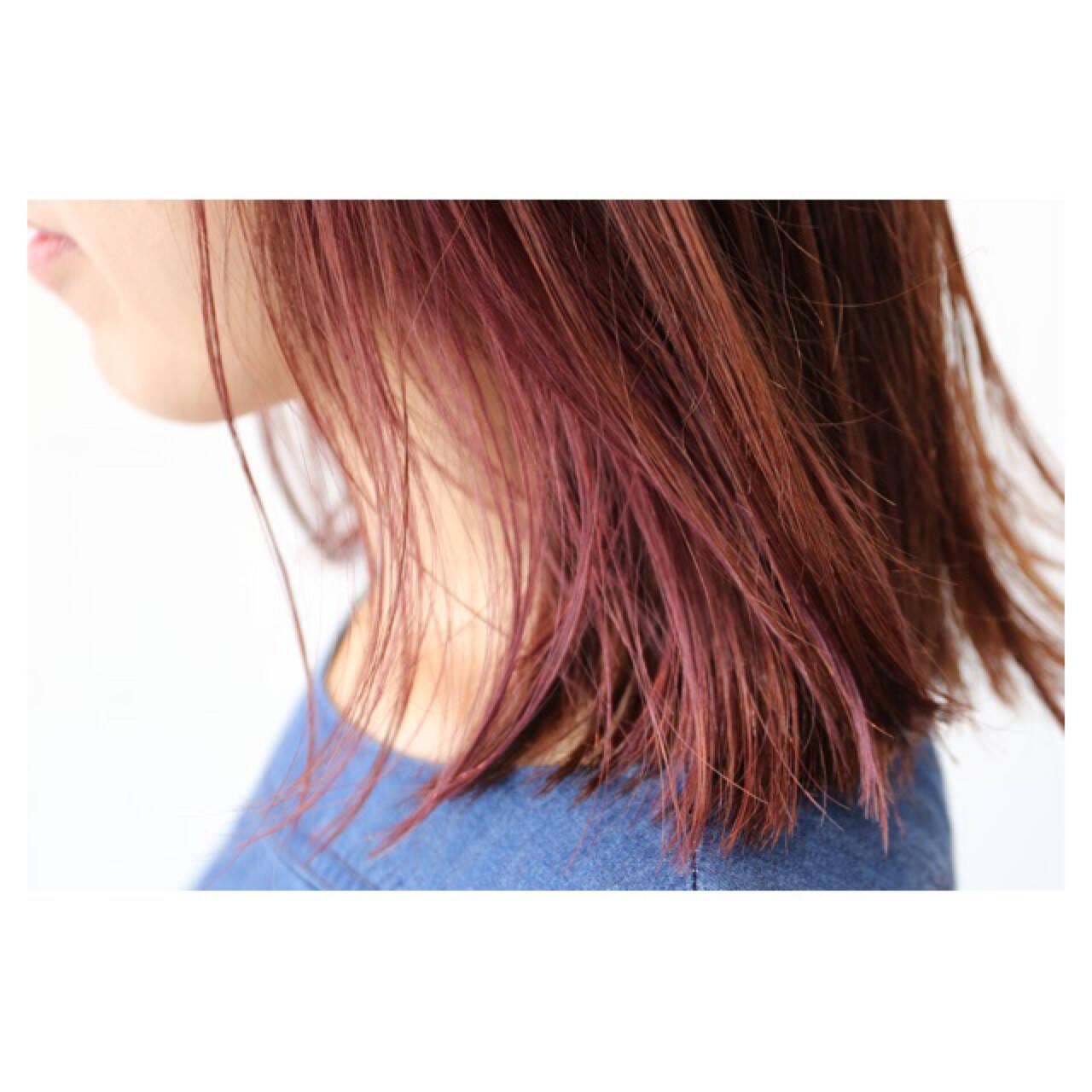 ハイトーン ボブ ナチュラル イルミナカラーヘアスタイルや髪型の写真・画像