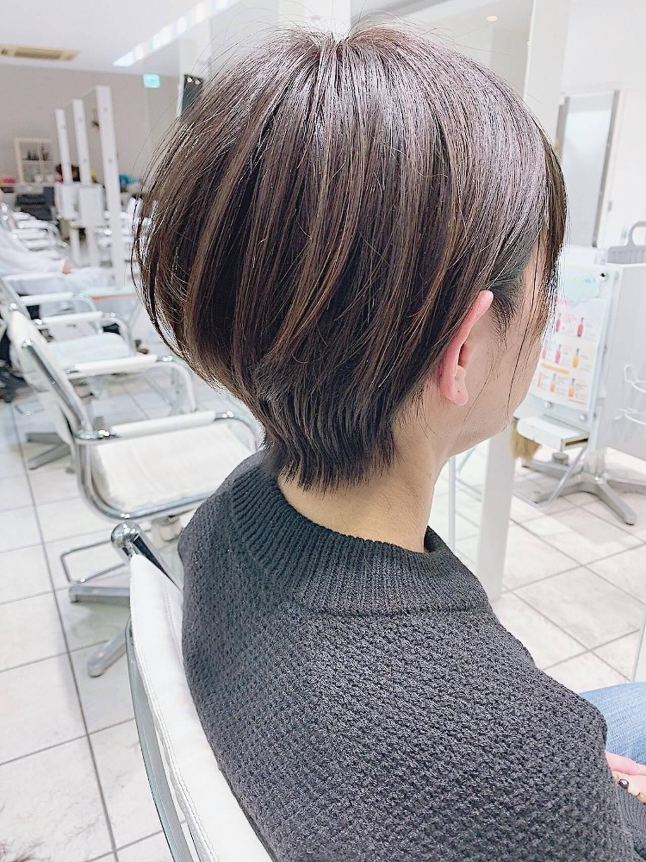 ショートヘア ボブ ミニボブ ショートボブヘアスタイルや髪型の写真・画像
