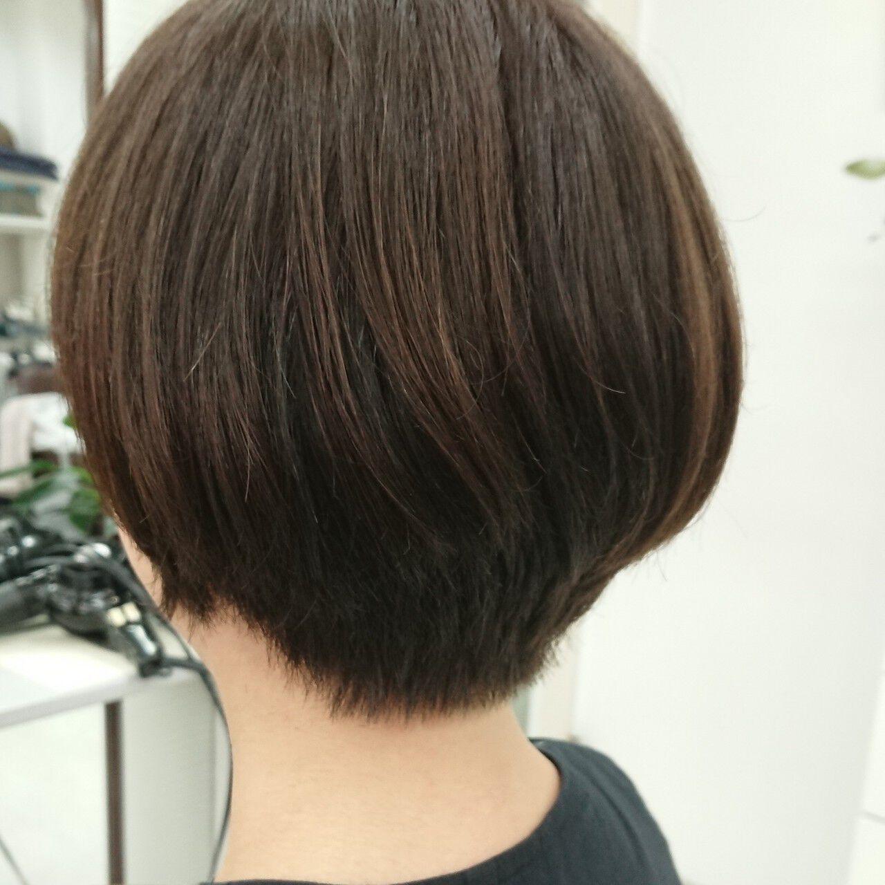 ベージュ ショートボブ ブラウンベージュ アッシュベージュヘアスタイルや髪型の写真・画像