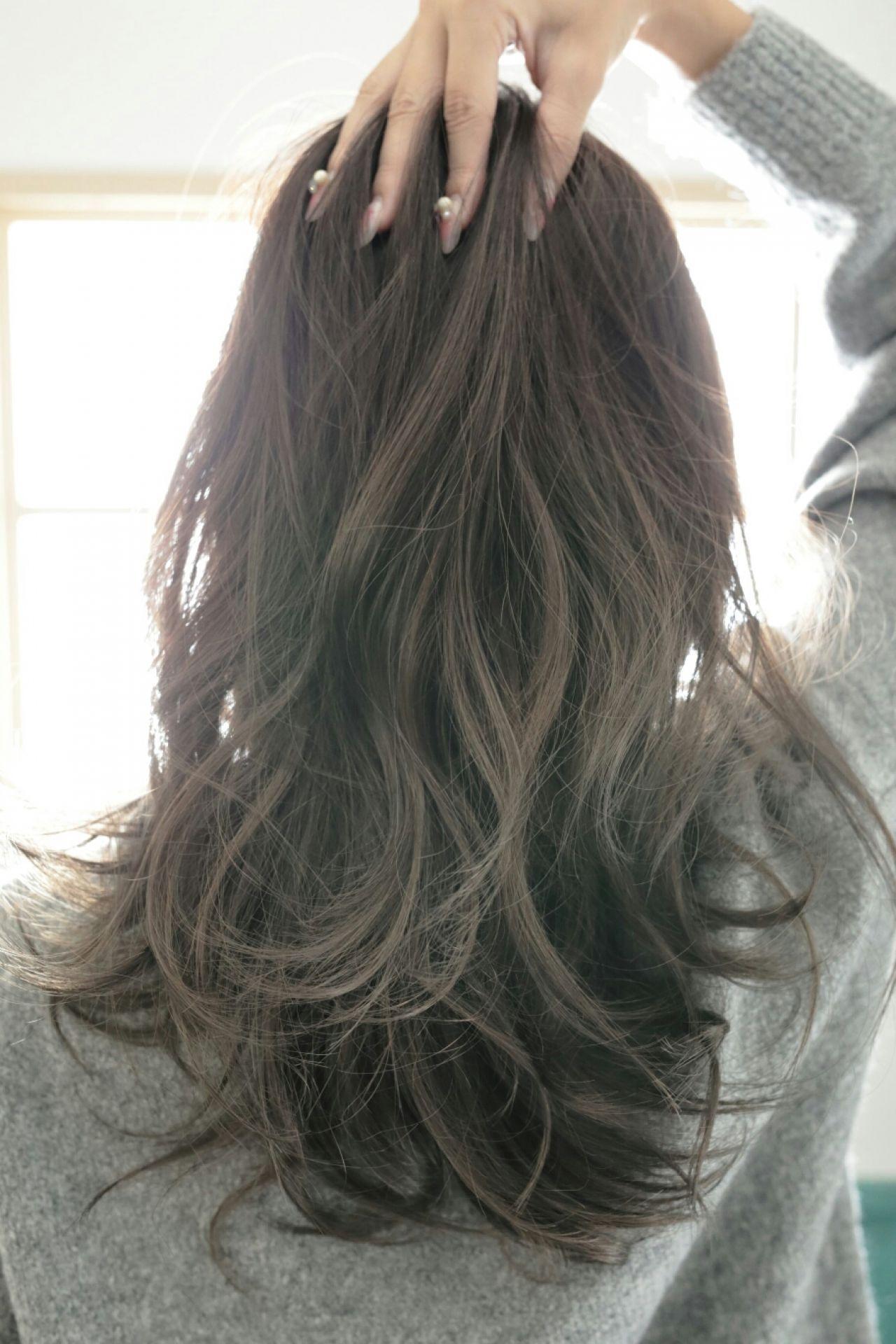 黒髪 冬 外国人風 透明感ヘアスタイルや髪型の写真・画像