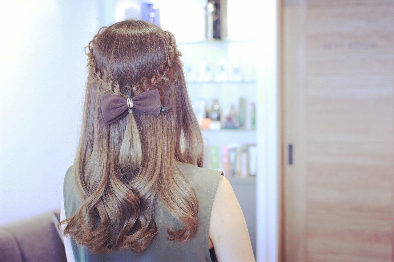 簡単ヘアアレンジ フェミニン グラデーションカラー ヘアアレンジヘアスタイルや髪型の写真・画像