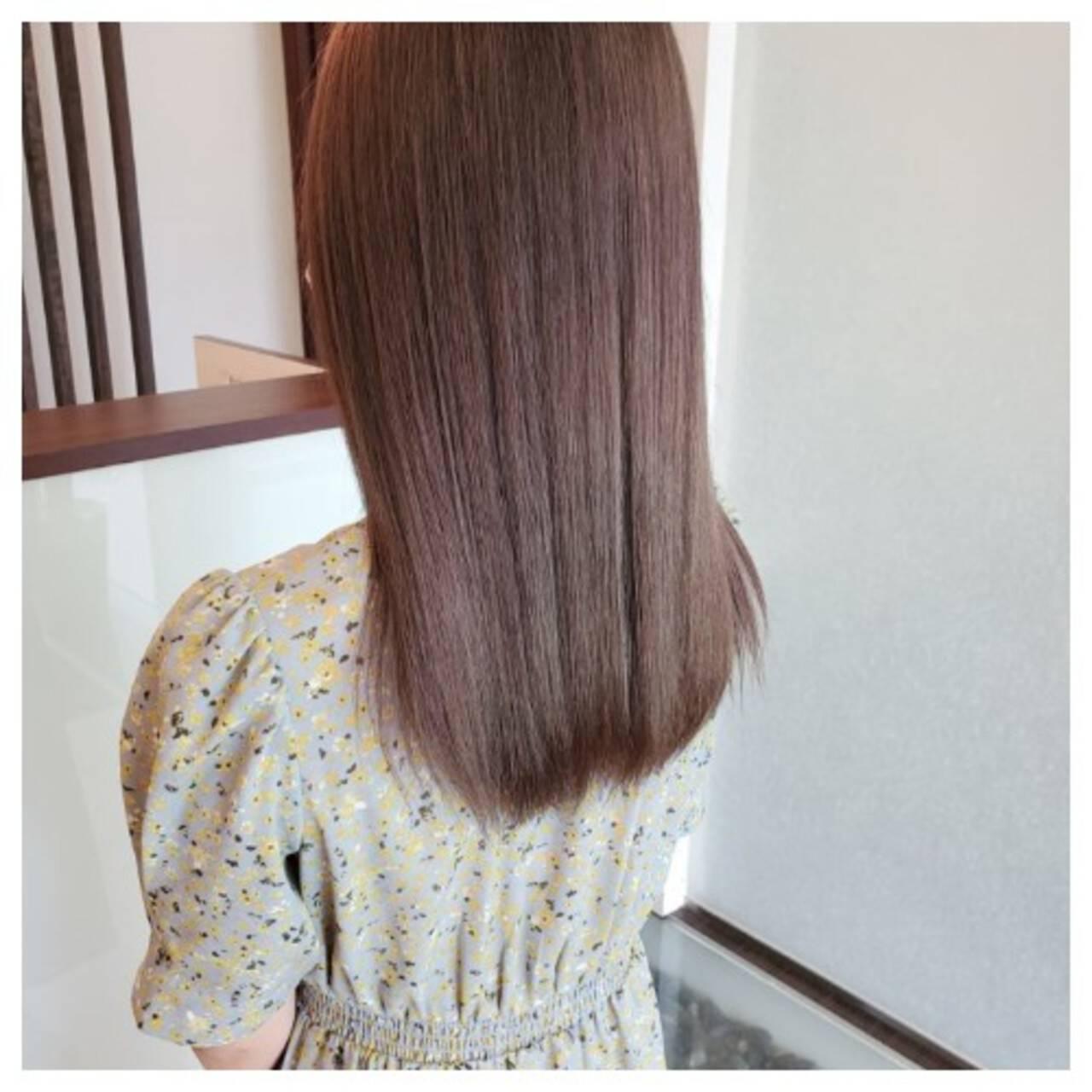 ブリーチオンカラー ハイトーンカラー ブリーチ ロングヘアスタイルや髪型の写真・画像