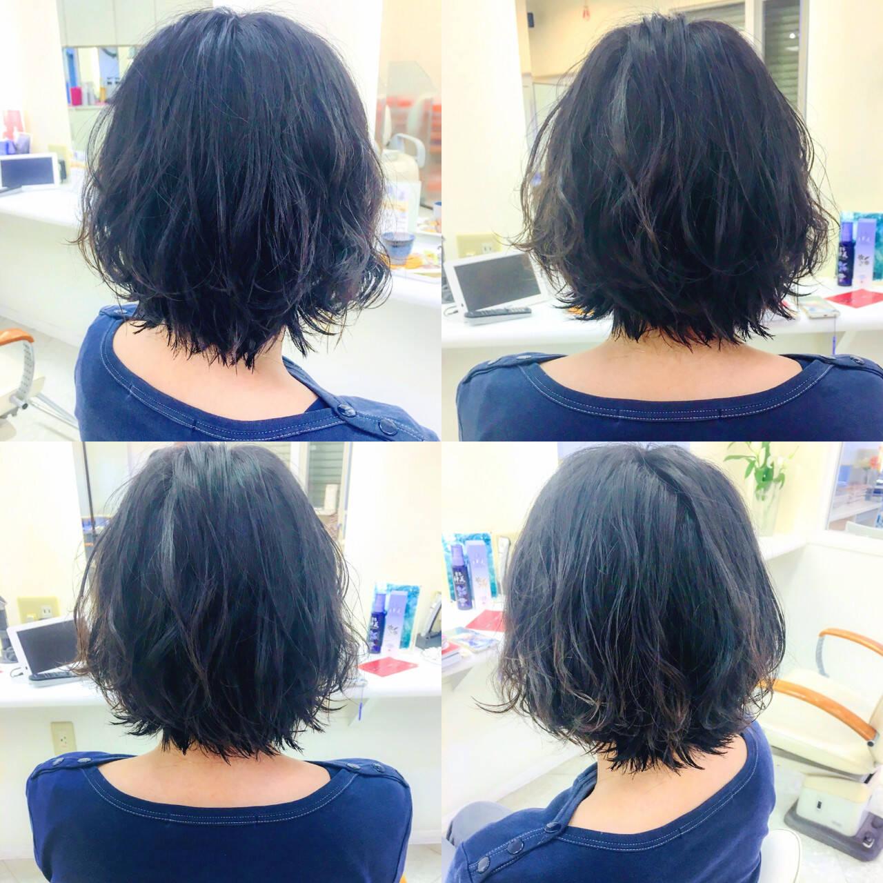 女子ウケ オフィス フェミニン ボブヘアスタイルや髪型の写真・画像