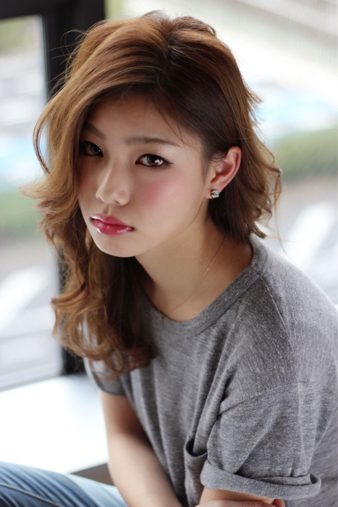 モテ髪 ストリート ミディアム コンサバヘアスタイルや髪型の写真・画像