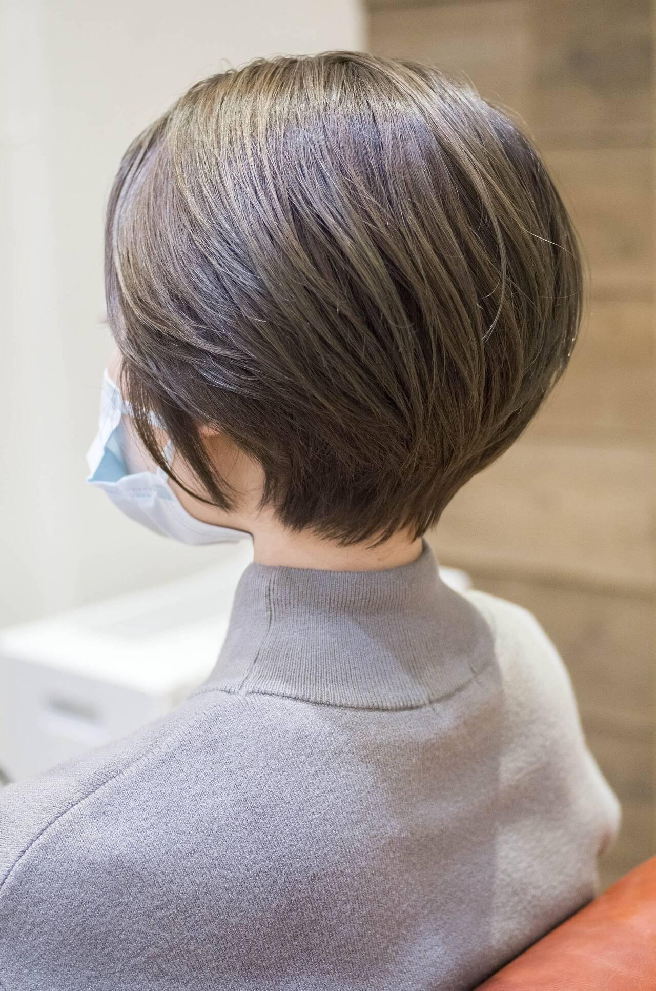 ショート ショートボブ マッシュショート ハンサムショートヘアスタイルや髪型の写真・画像