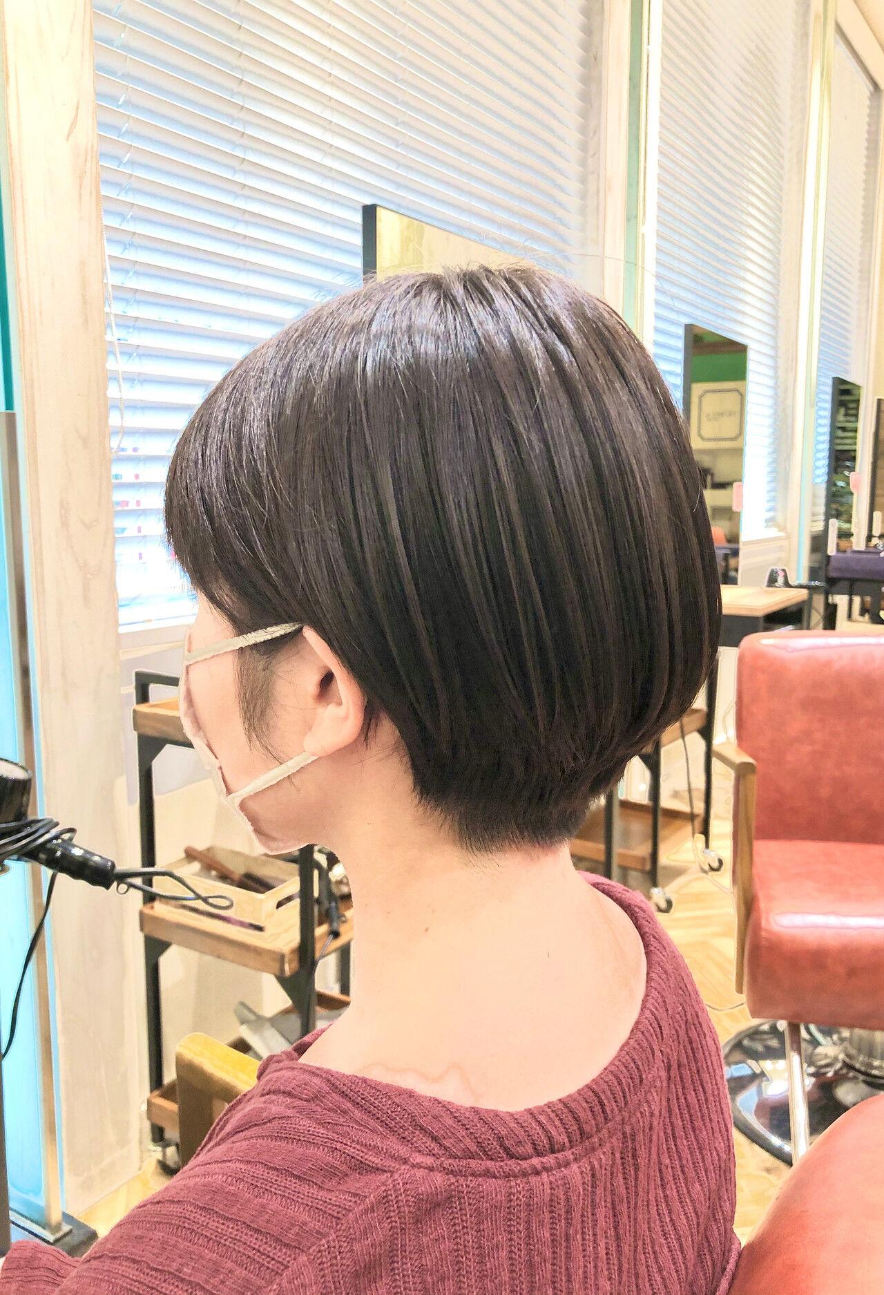 ショートヘア ガーリー ショート ベリーショートヘアスタイルや髪型の写真・画像