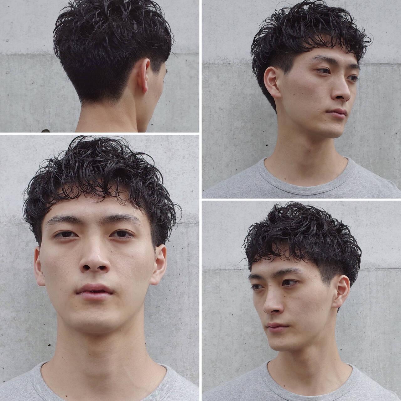 メンズヘア ショート メンズパーマ ツーブロックヘアスタイルや髪型の写真・画像
