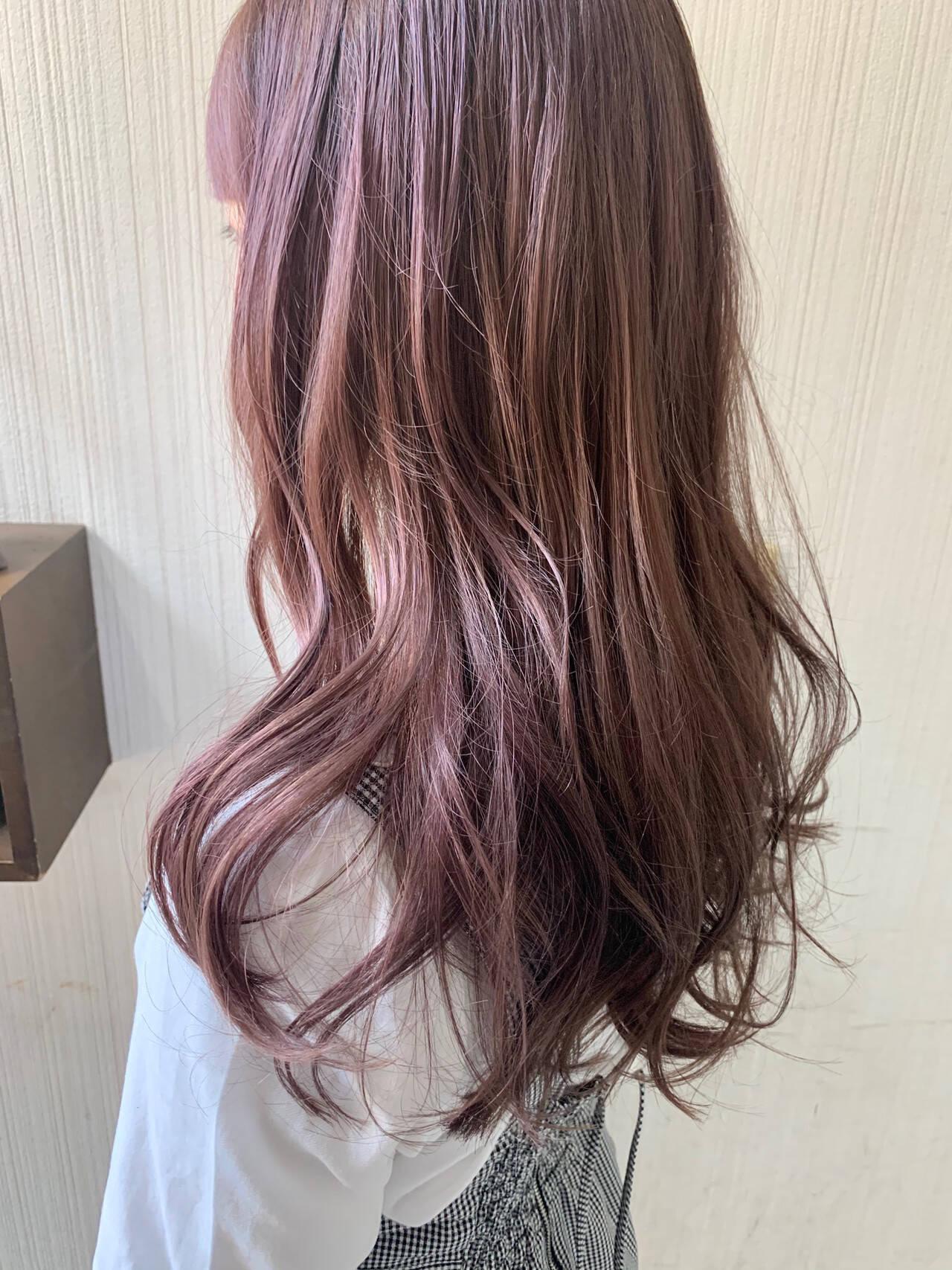 アンニュイほつれヘア 外国人風 大人かわいい ピンクブラウンヘアスタイルや髪型の写真・画像