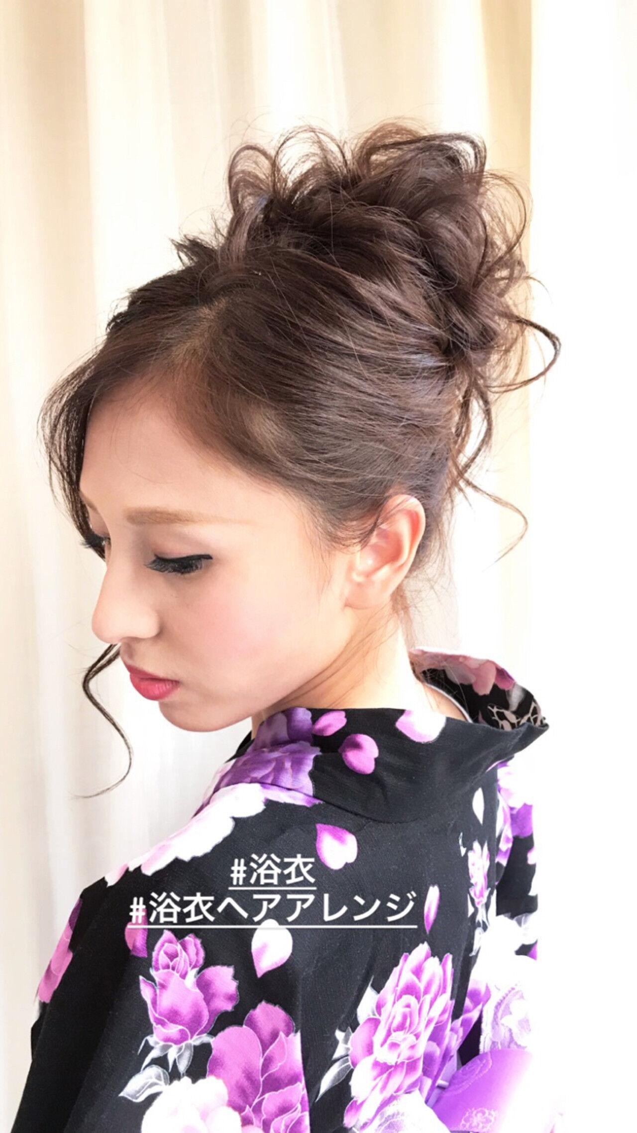 夏 和装 ロング 花火大会ヘアスタイルや髪型の写真・画像