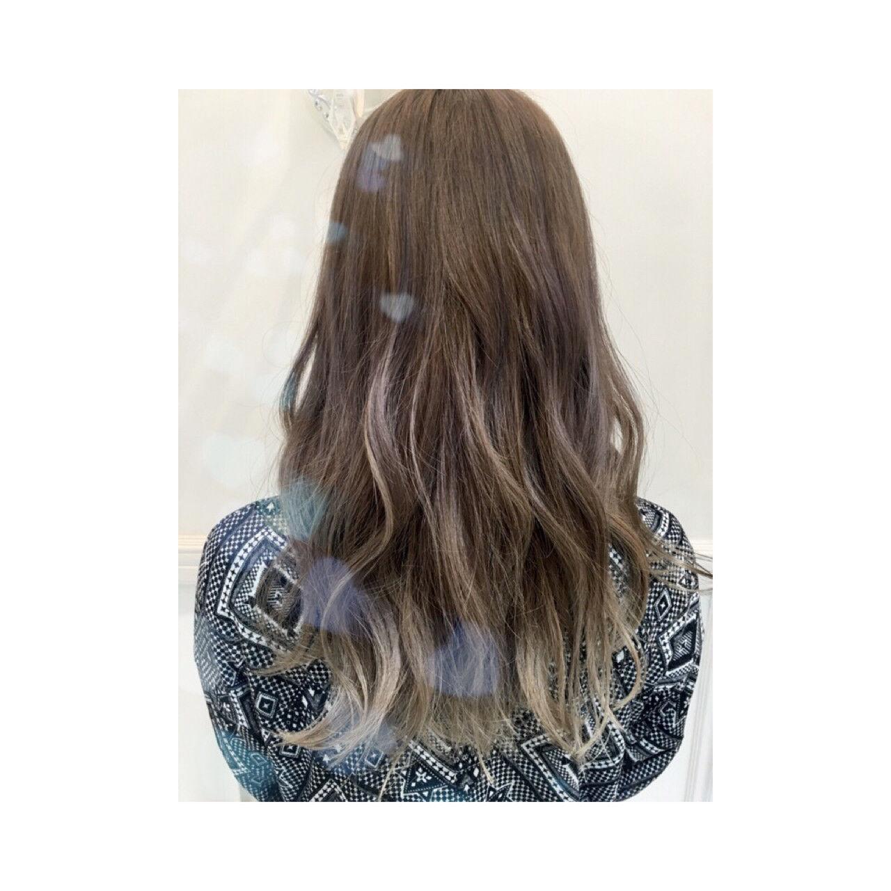 外国人風 イルミナカラー ストリート ブラウンヘアスタイルや髪型の写真・画像