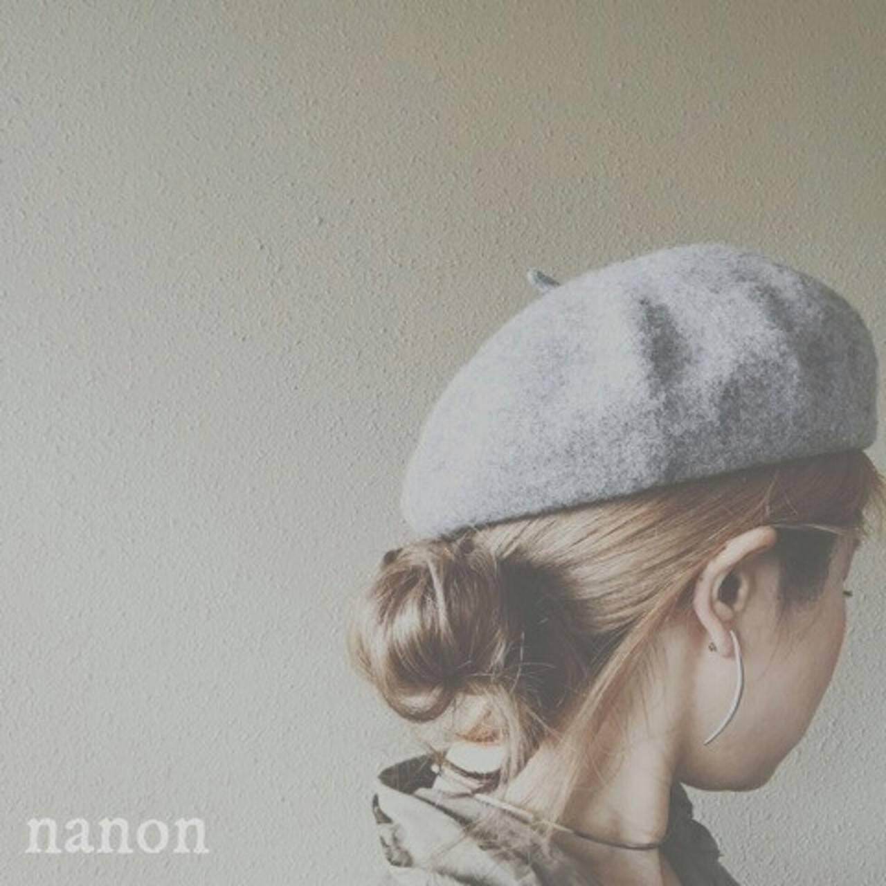 ヘアアレンジ ストリート 大人女子 ベレー帽ヘアスタイルや髪型の写真・画像