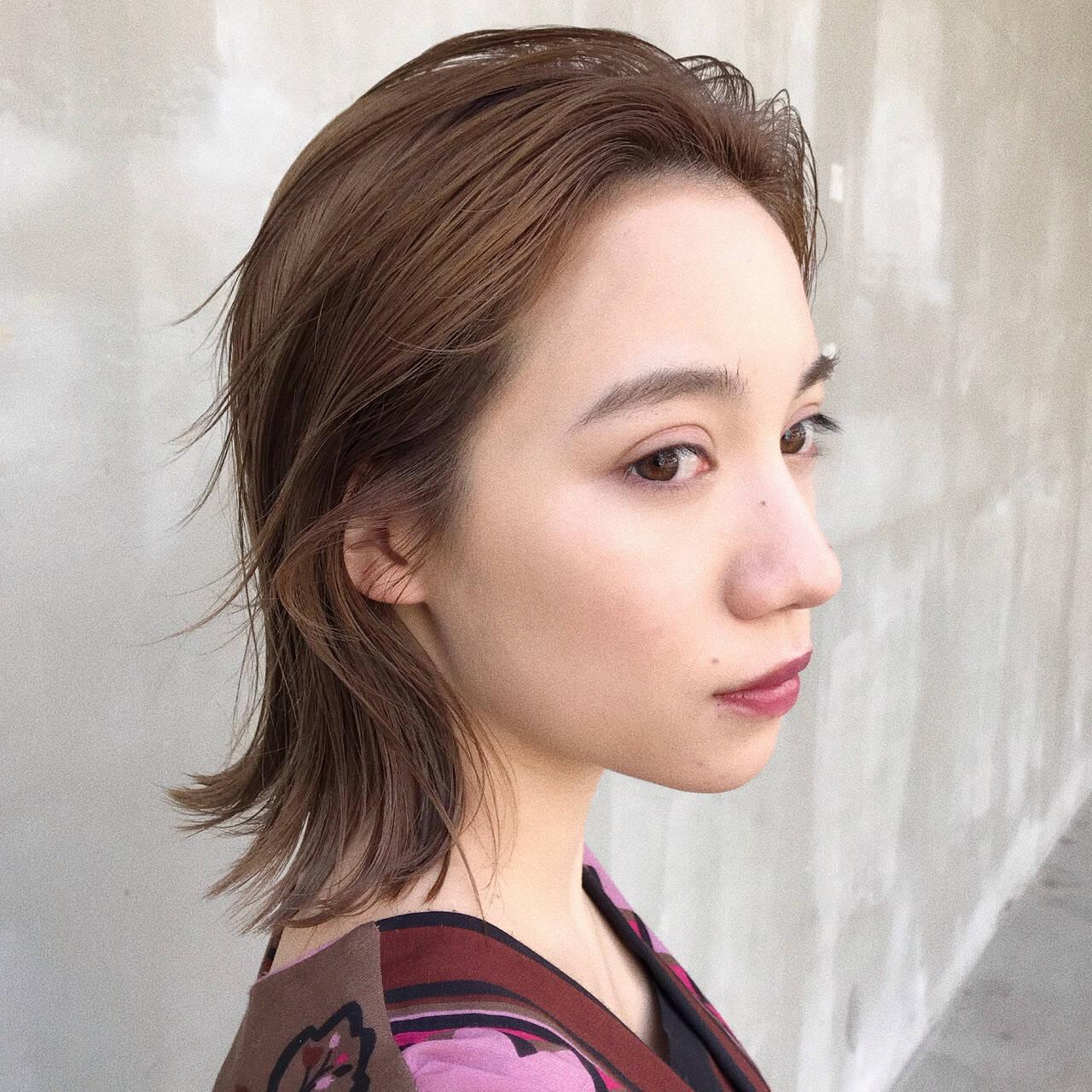 デート ハイライト ロブ 大人かわいいヘアスタイルや髪型の写真・画像