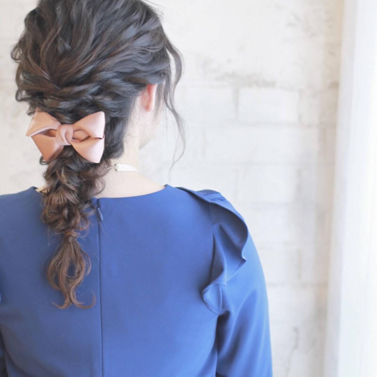 ゆるふわ 簡単ヘアアレンジ ショート フェミニンヘアスタイルや髪型の写真・画像