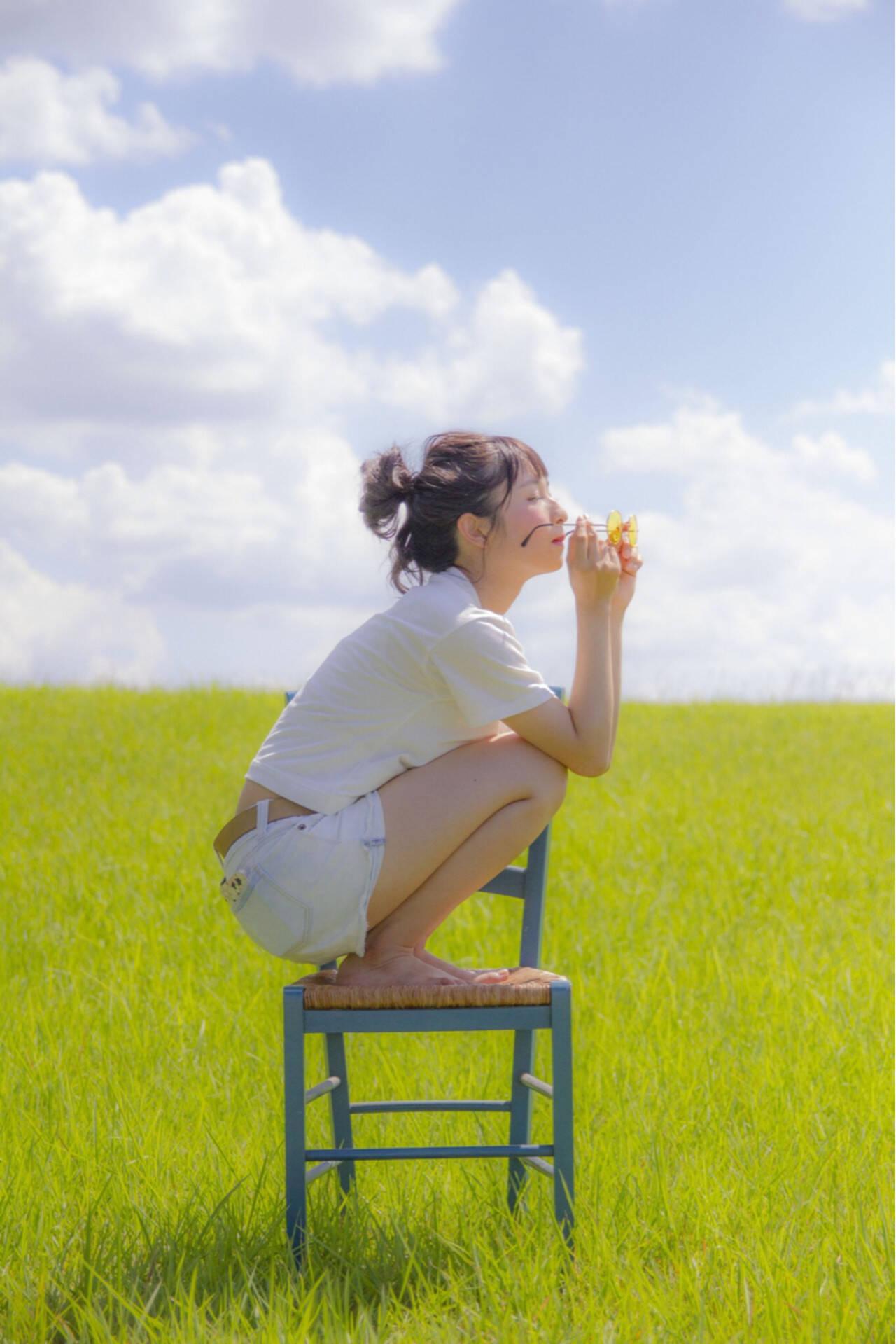 涼しげ 色気 ヘアアレンジ 夏ヘアスタイルや髪型の写真・画像