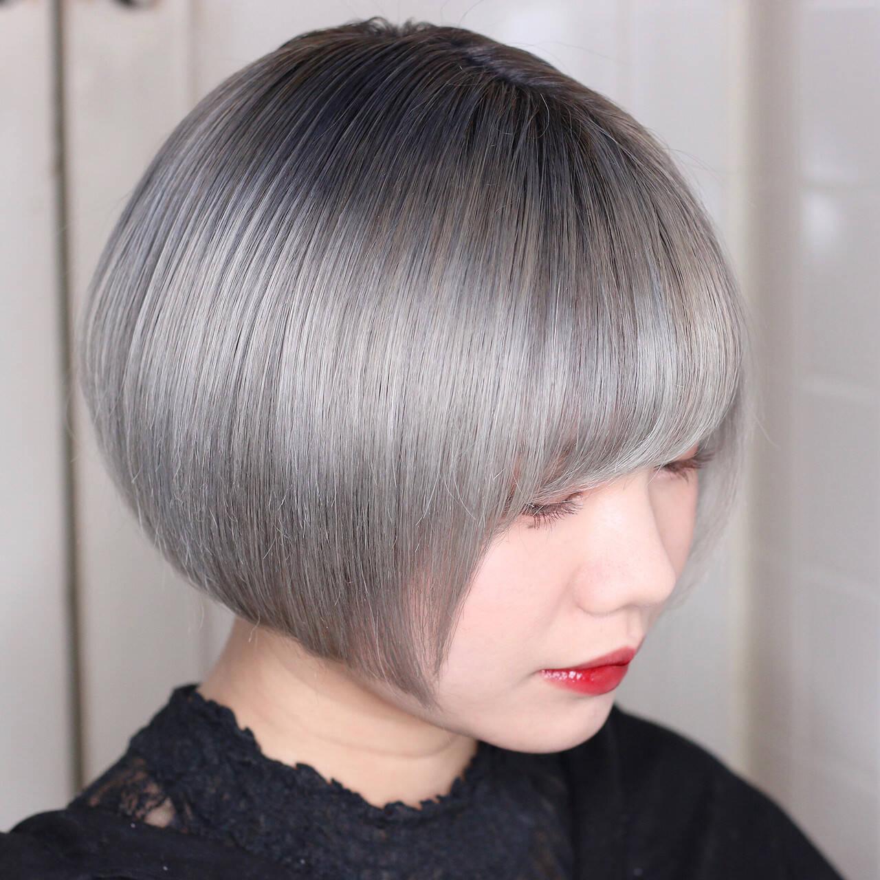 モード ハイトーンカラー ハイトーン ブリーチヘアスタイルや髪型の写真・画像