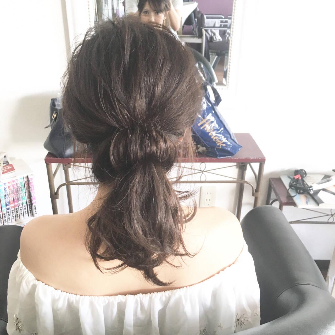 デート フェミニン ミディアム 結婚式ヘアスタイルや髪型の写真・画像