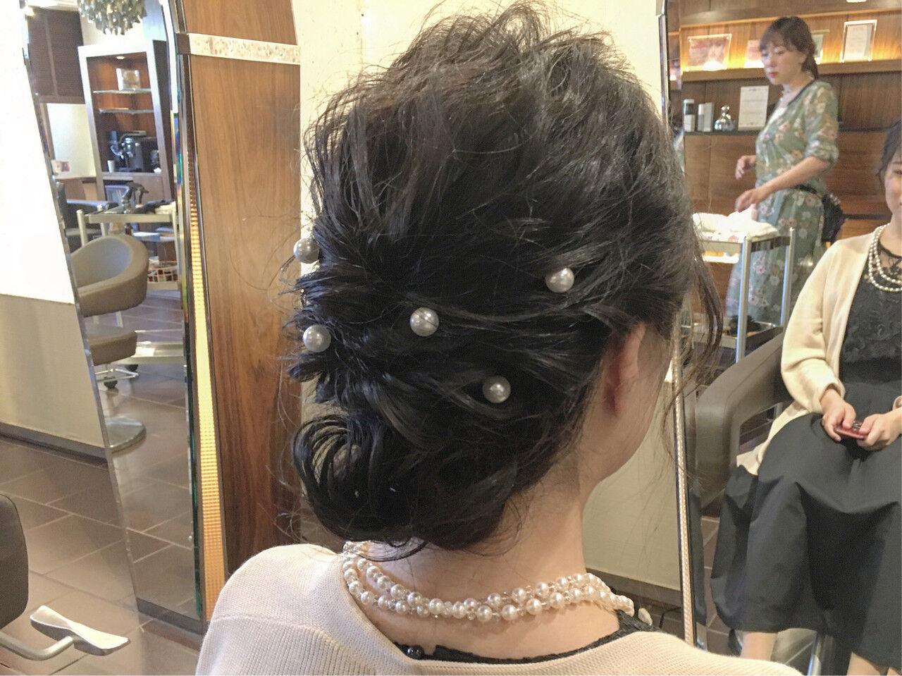 デート ナチュラル 結婚式 簡単ヘアアレンジヘアスタイルや髪型の写真・画像
