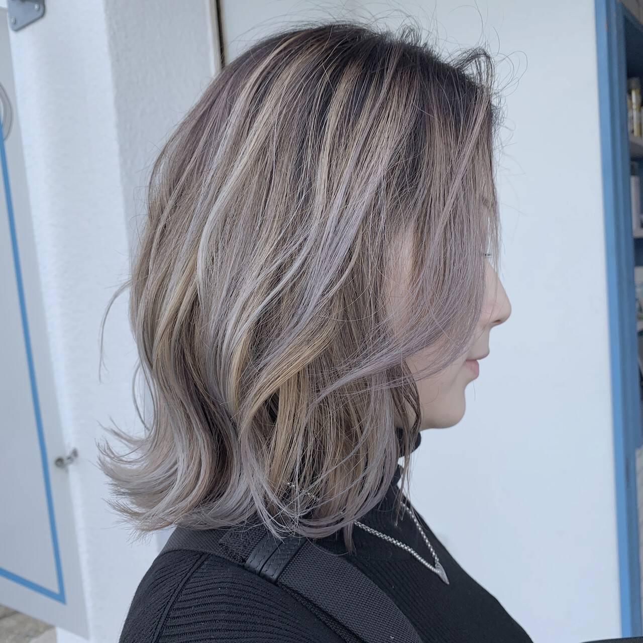 デザインカラー 3Dハイライト 圧倒的透明感 ブリーチヘアスタイルや髪型の写真・画像