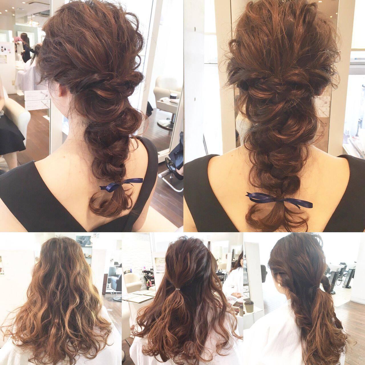 ヘアアレンジ パーティ ロング 大人かわいいヘアスタイルや髪型の写真・画像